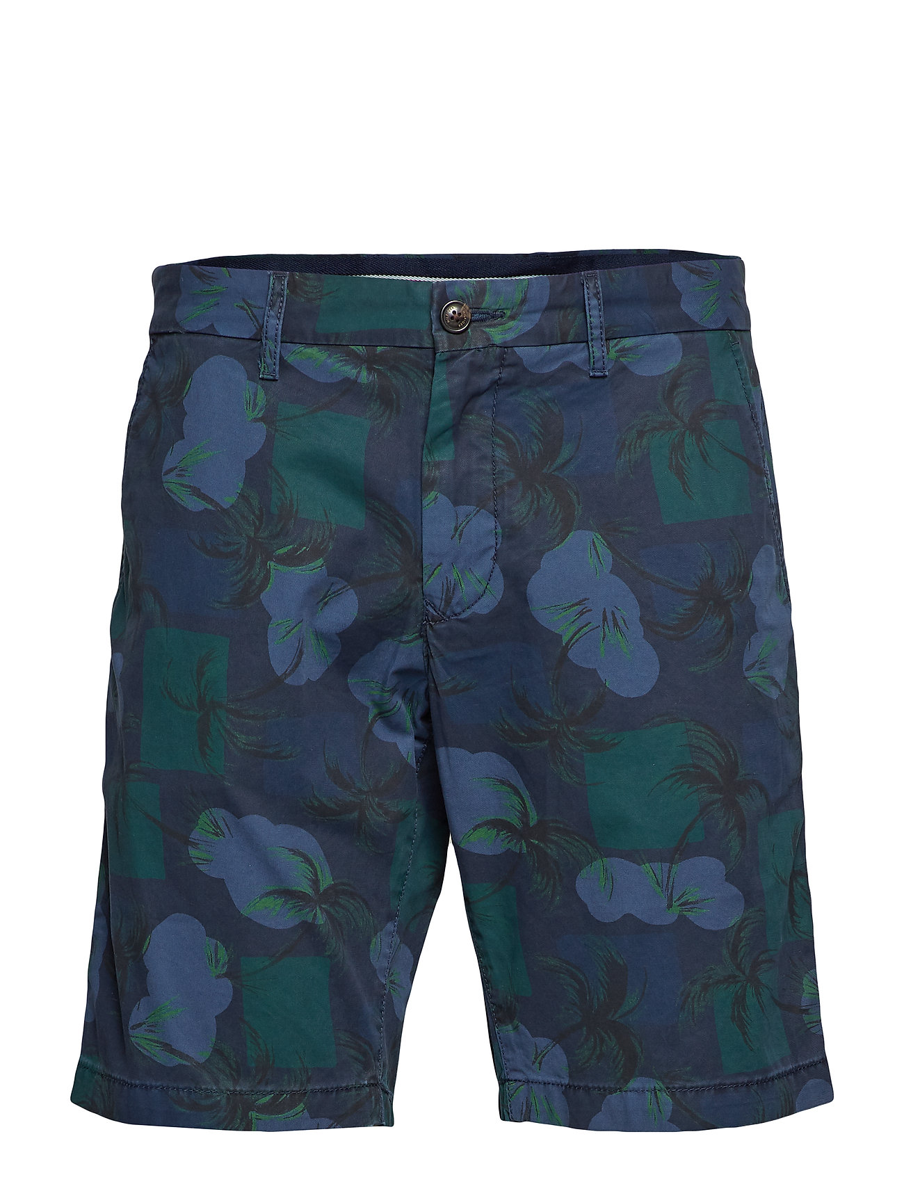 Tommy Hilfiger BROOKLYN SHORT LT TWL PALM PRINT - NIGHT SKY