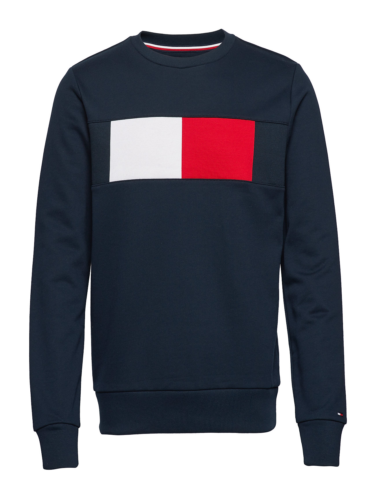 TOMMY HILFIGER Flag Chest Logo Sweatshirt Sweat-shirt Pullover Blau TOMMY HILFIGER