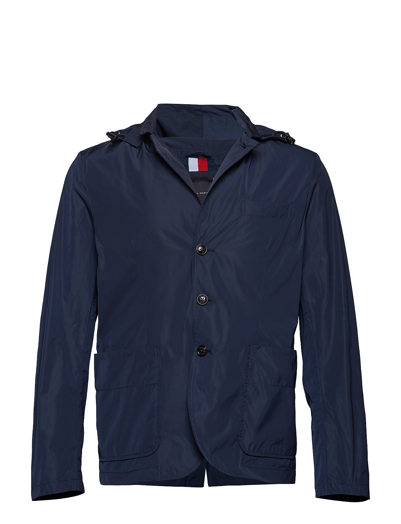 Tommy Hilfiger PACKABLE HOODED BLAZ - SKY CAPTAIN