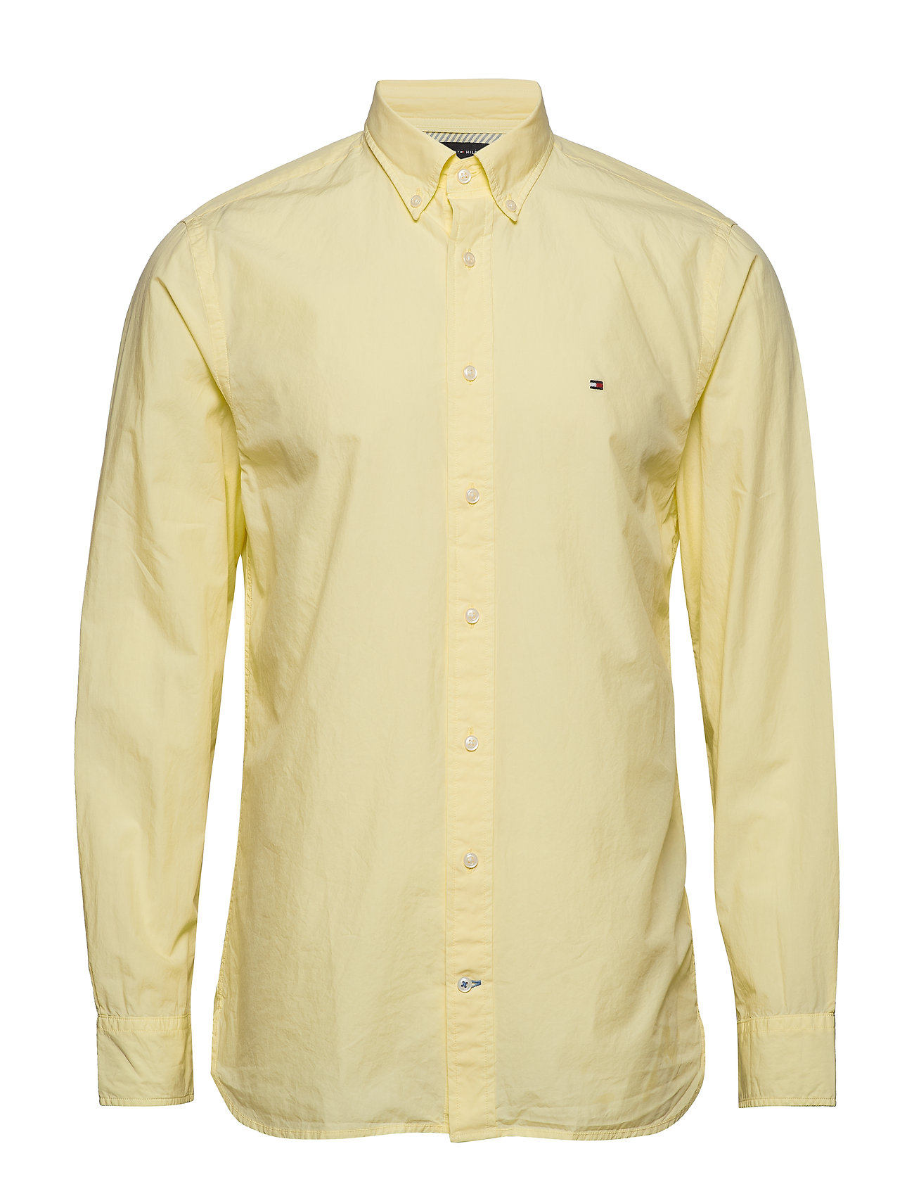 Tommy Hilfiger GARMENT DYED POPLIN, - LEMON MERINGUE