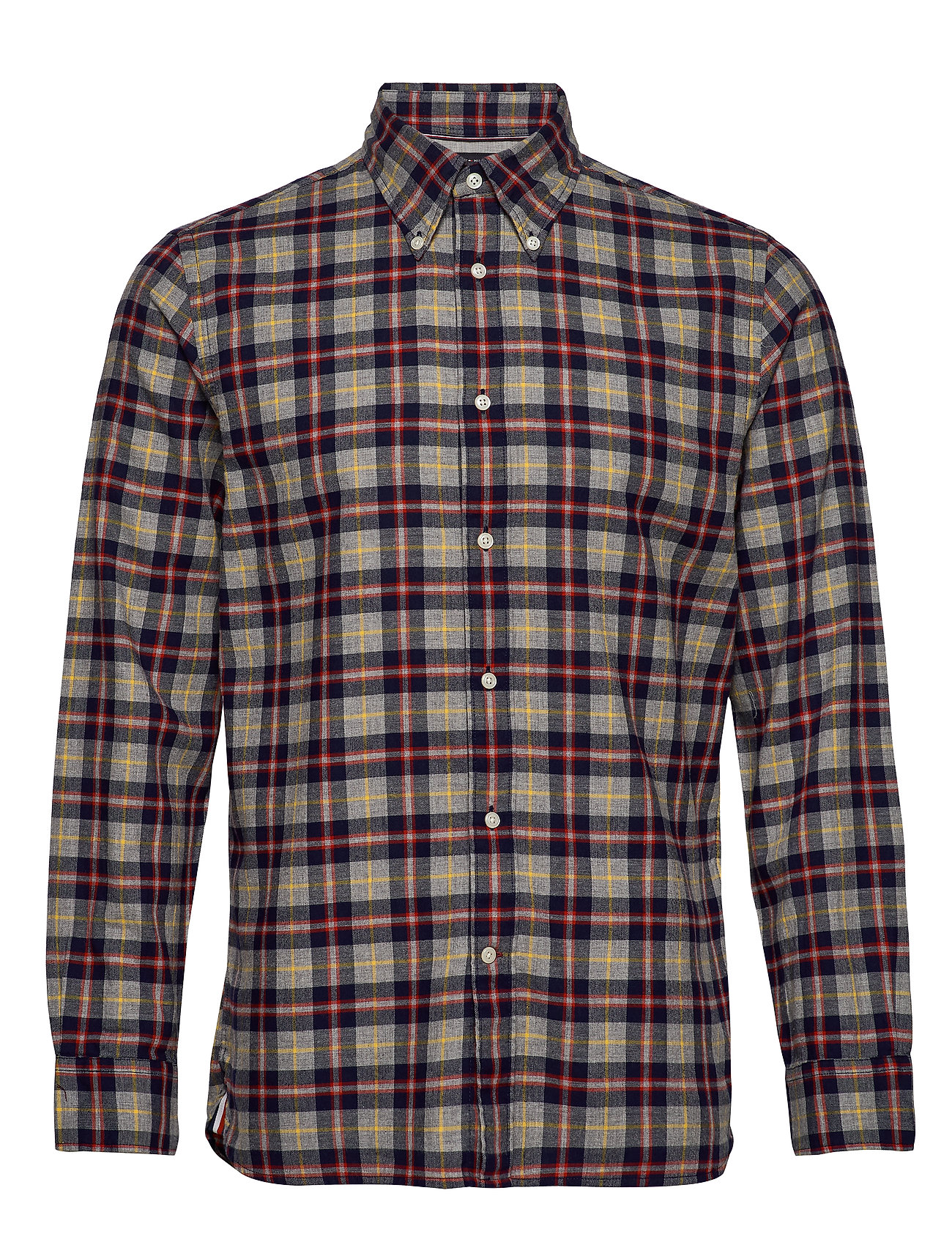 Tommy Hilfiger MULTI COLOR TARTAN SHIRT - CLOUD HTR / MARITIME BLUE / MU