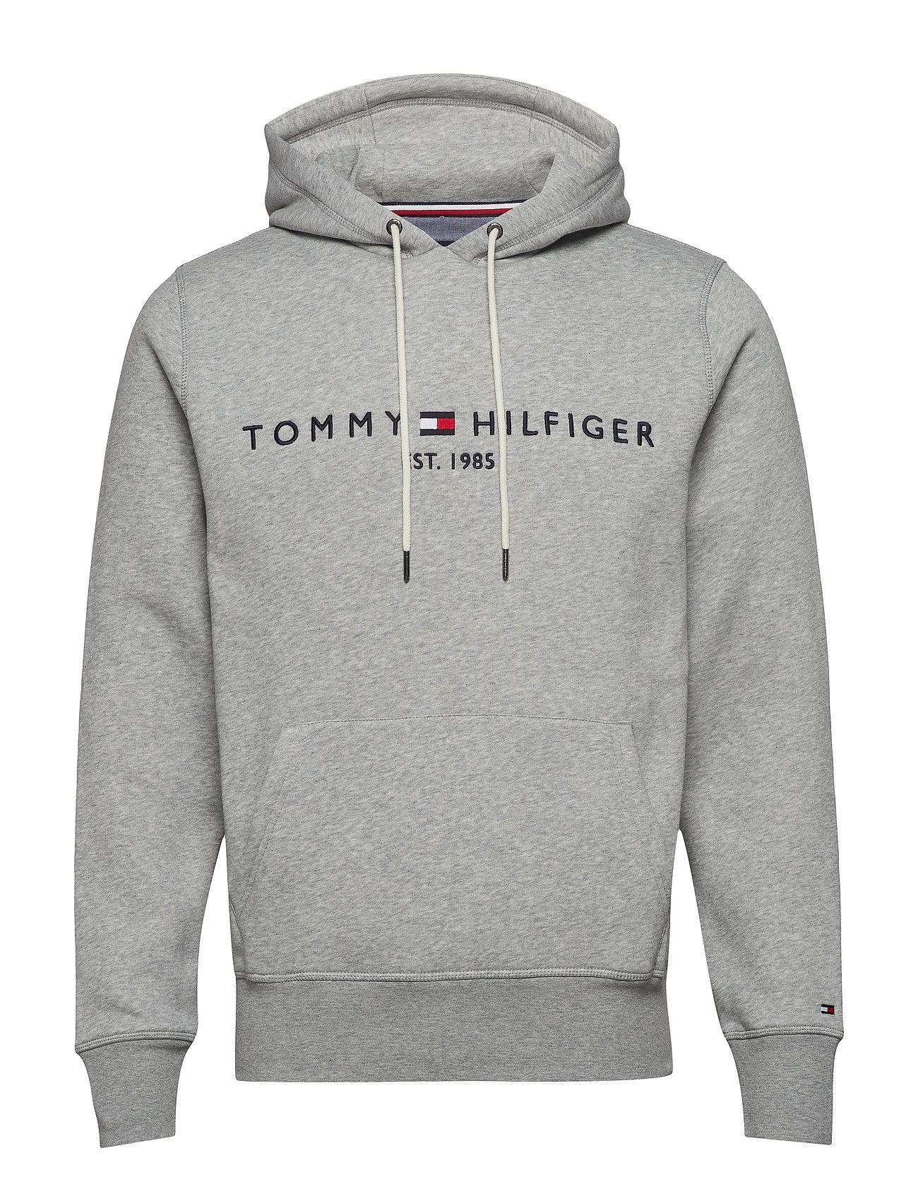 Tommy Hilfiger TOMMY LOGO HOODY - CLOUD HTR