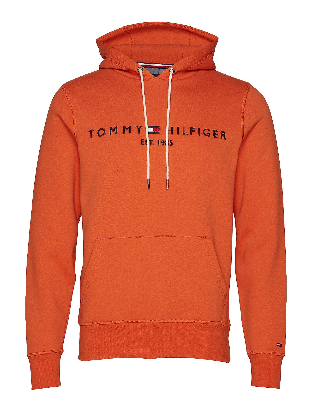 Image of Tommy Logo Hoody Hoodie Trøje Orange Tommy Hilfiger (3452146879)