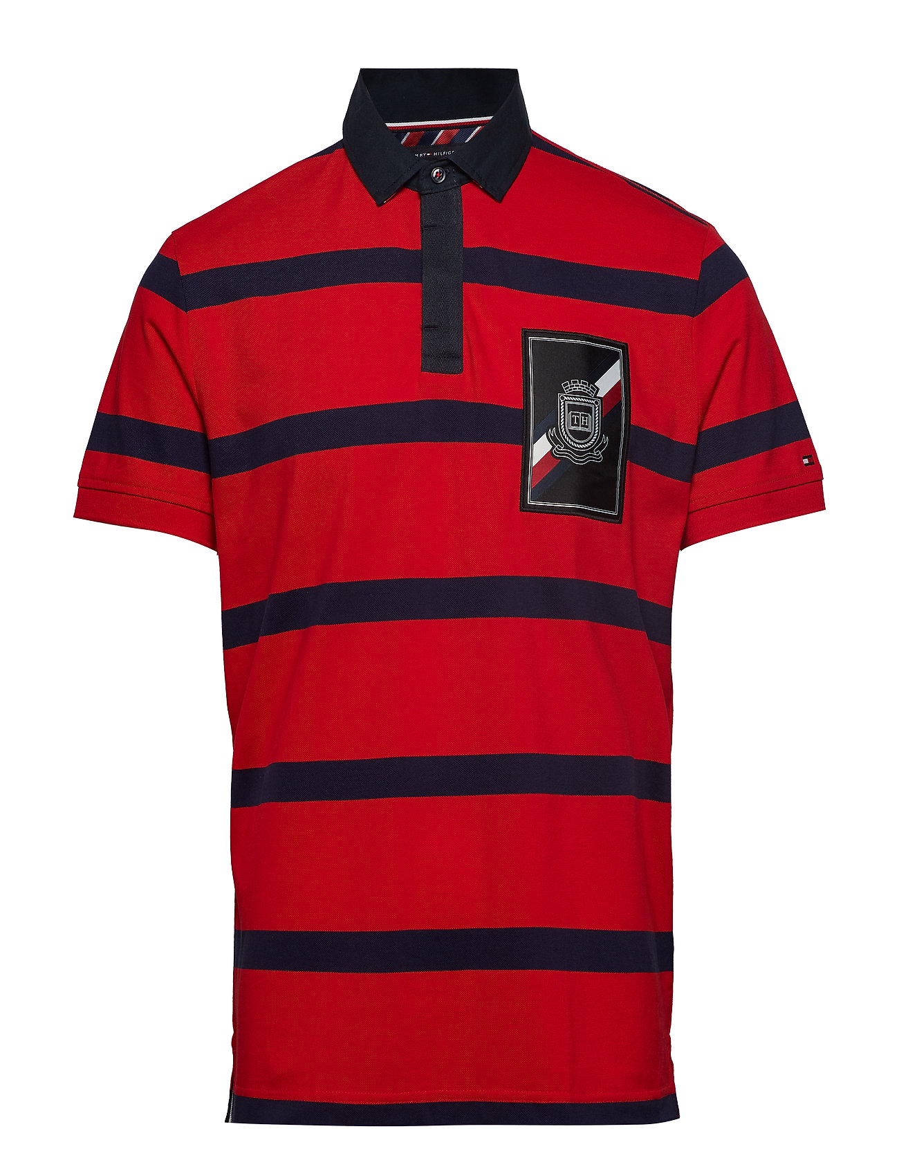 Tommy Hilfiger RUGBY STRIPED REGULA - HAUTE RED / MULTI