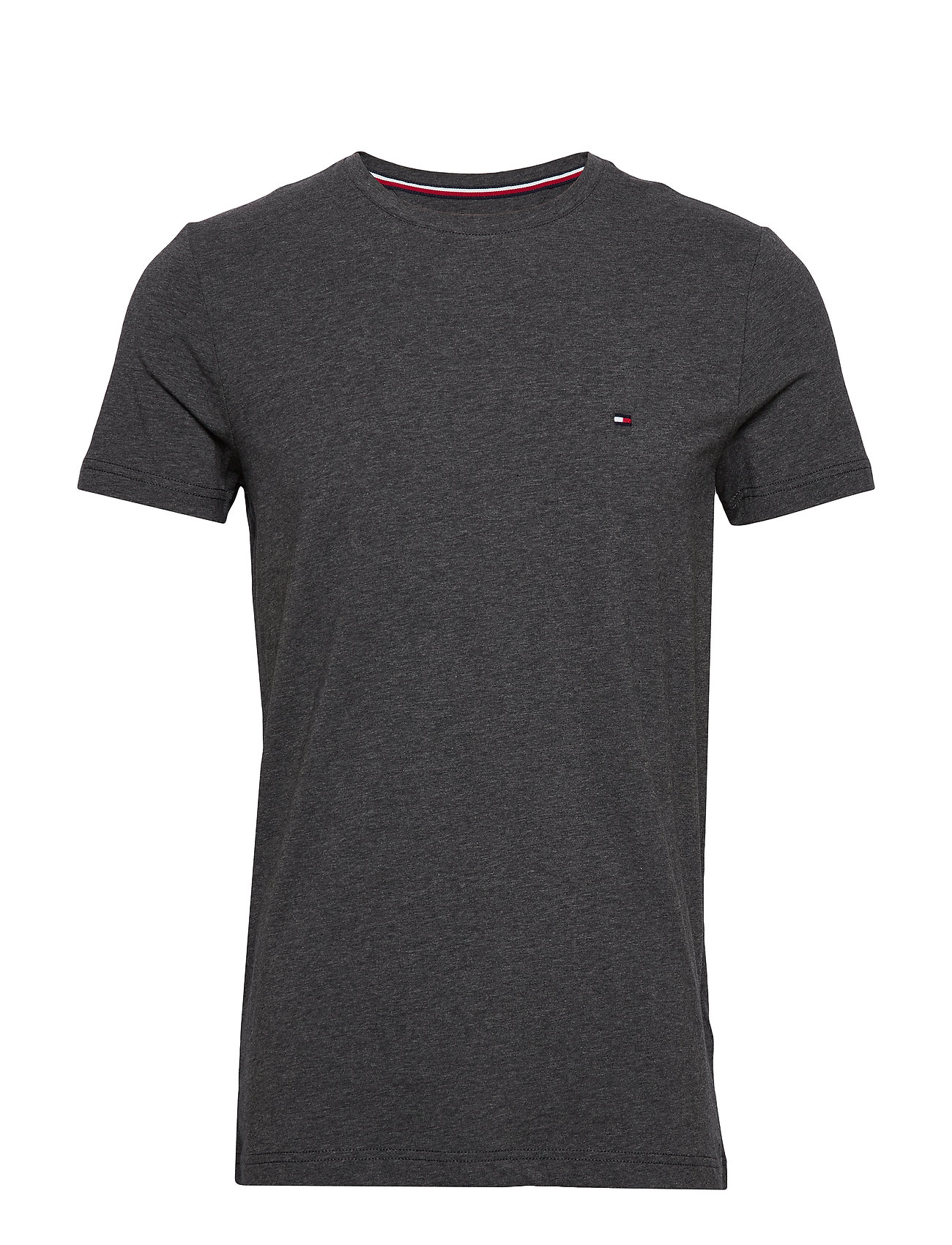 Tommy Hilfiger STRETCH SLIM FIT TEE - CHARCOAL HEATHER
