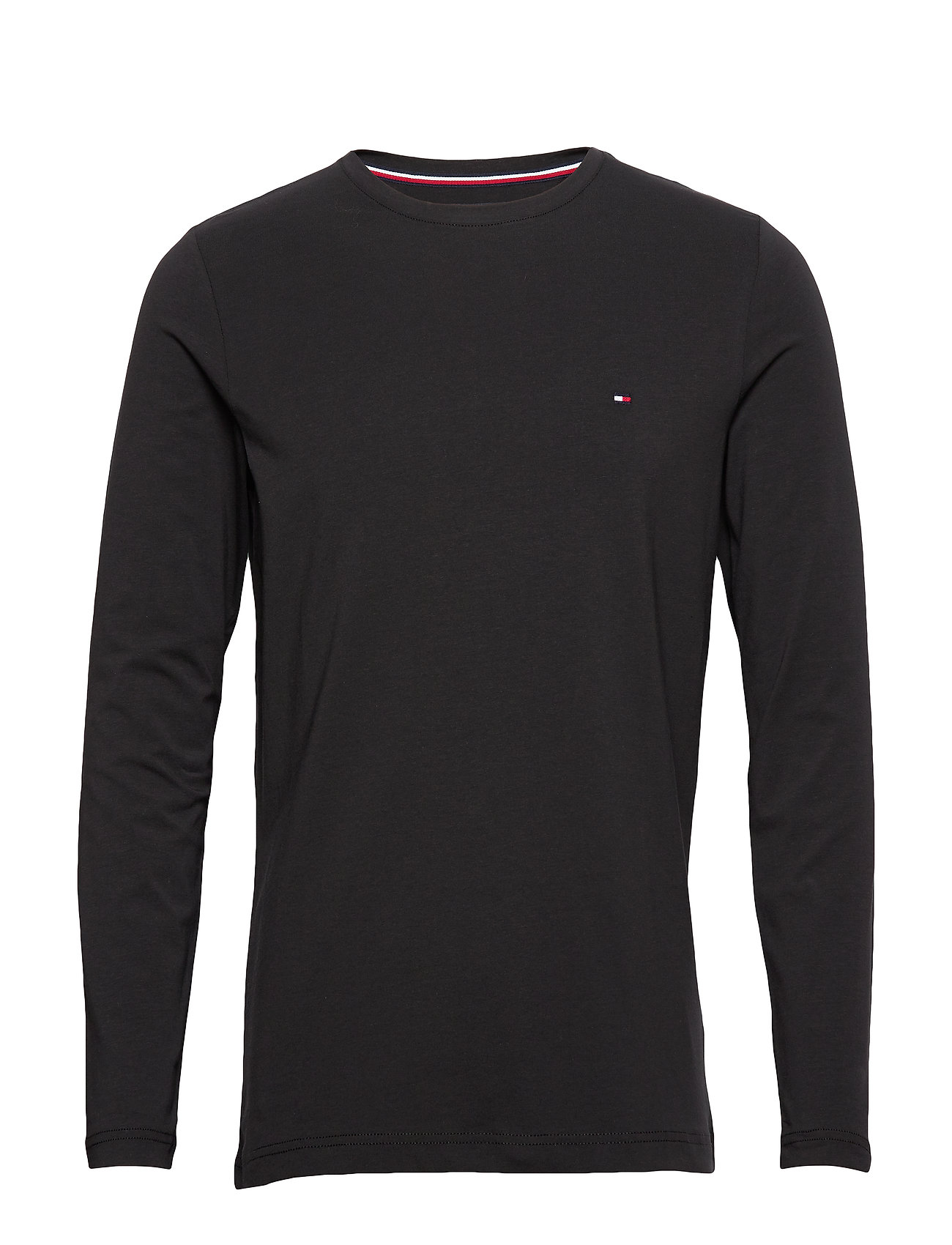 Tommy Hilfiger STRETCH SLIM FIT LON - BLACK