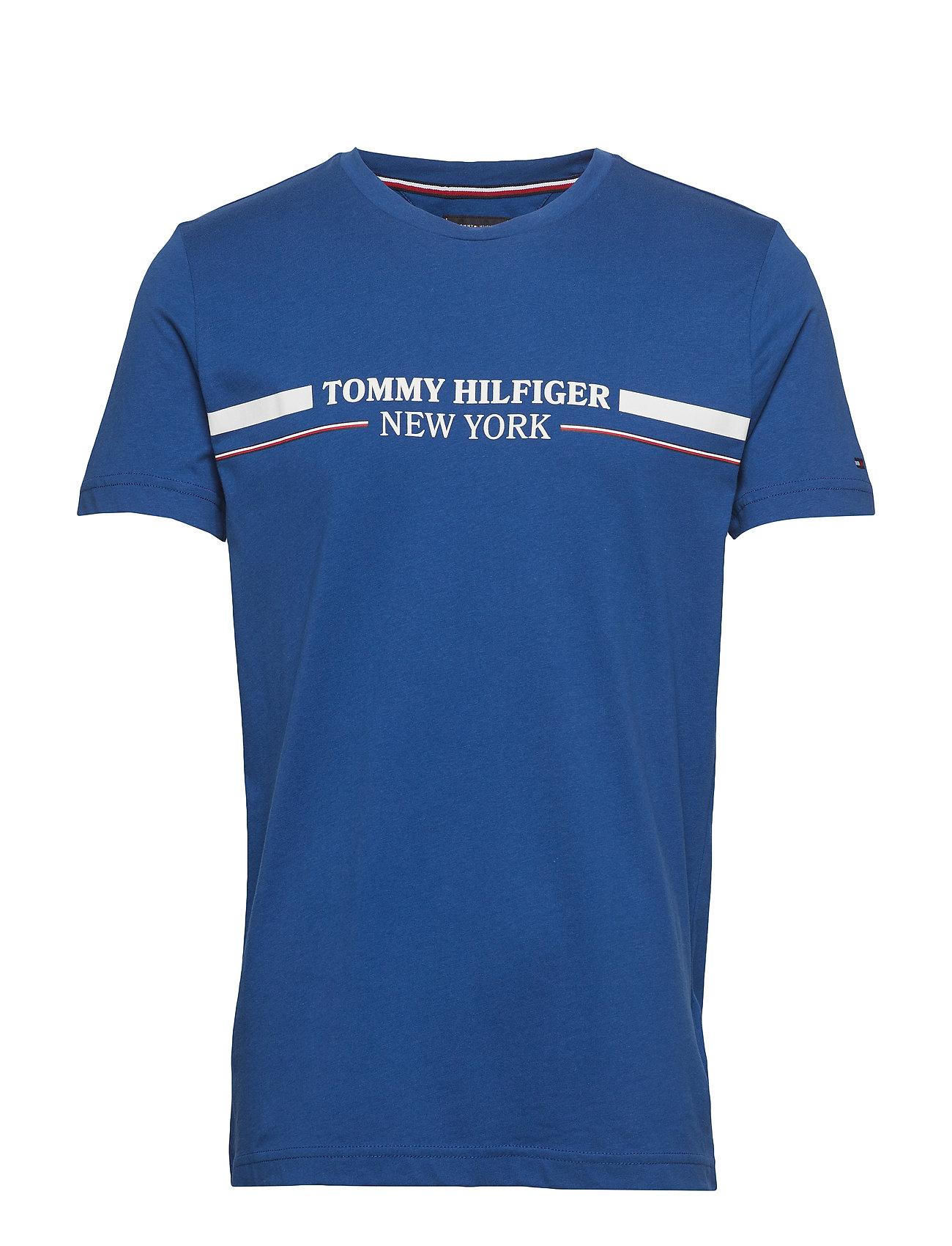 Tommy Hilfiger WCC YACHT STRIPE TEE - BLUE QUARTZ