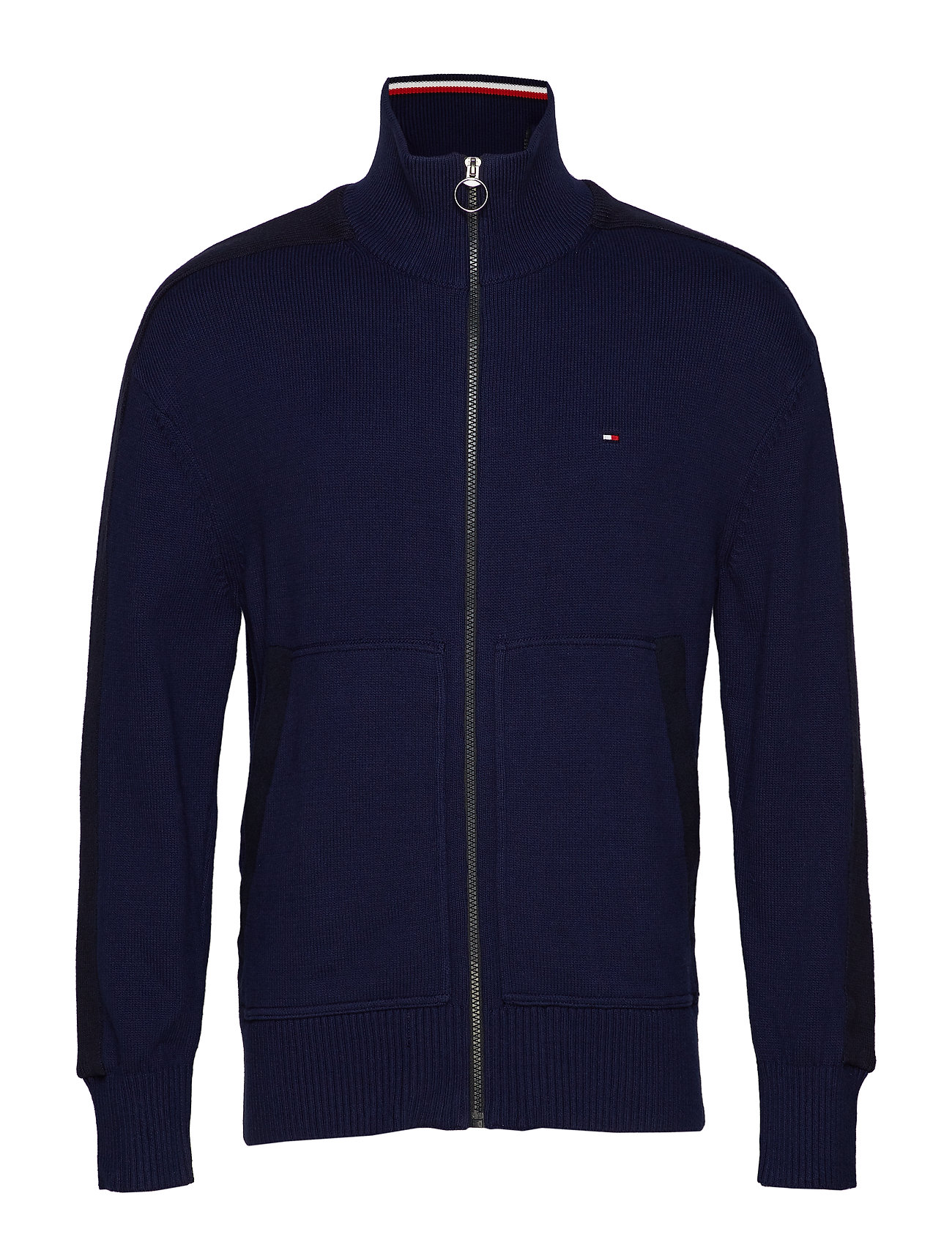 Tommy Hilfiger ICONIC ZIP THROUGH - MARITIME BLUE