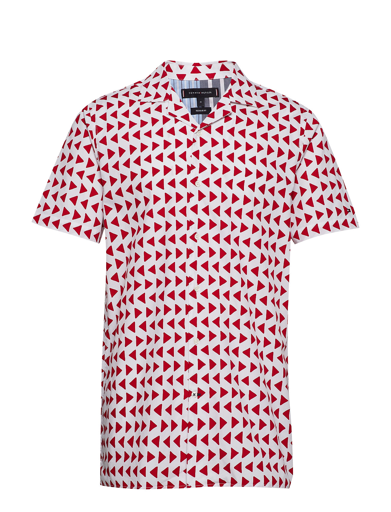 Tommy Hilfiger BOLD GEO PRINT SHIRT - BRIGHT WHITE / HAUTE RED