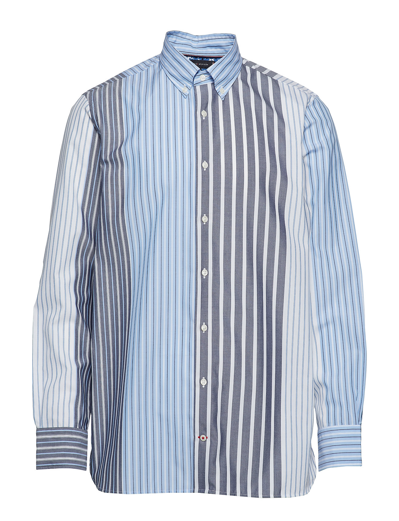 TOMMY HILFIGER Relaxed Mixed Stripe Hemd Casual Blau TOMMY HILFIGER