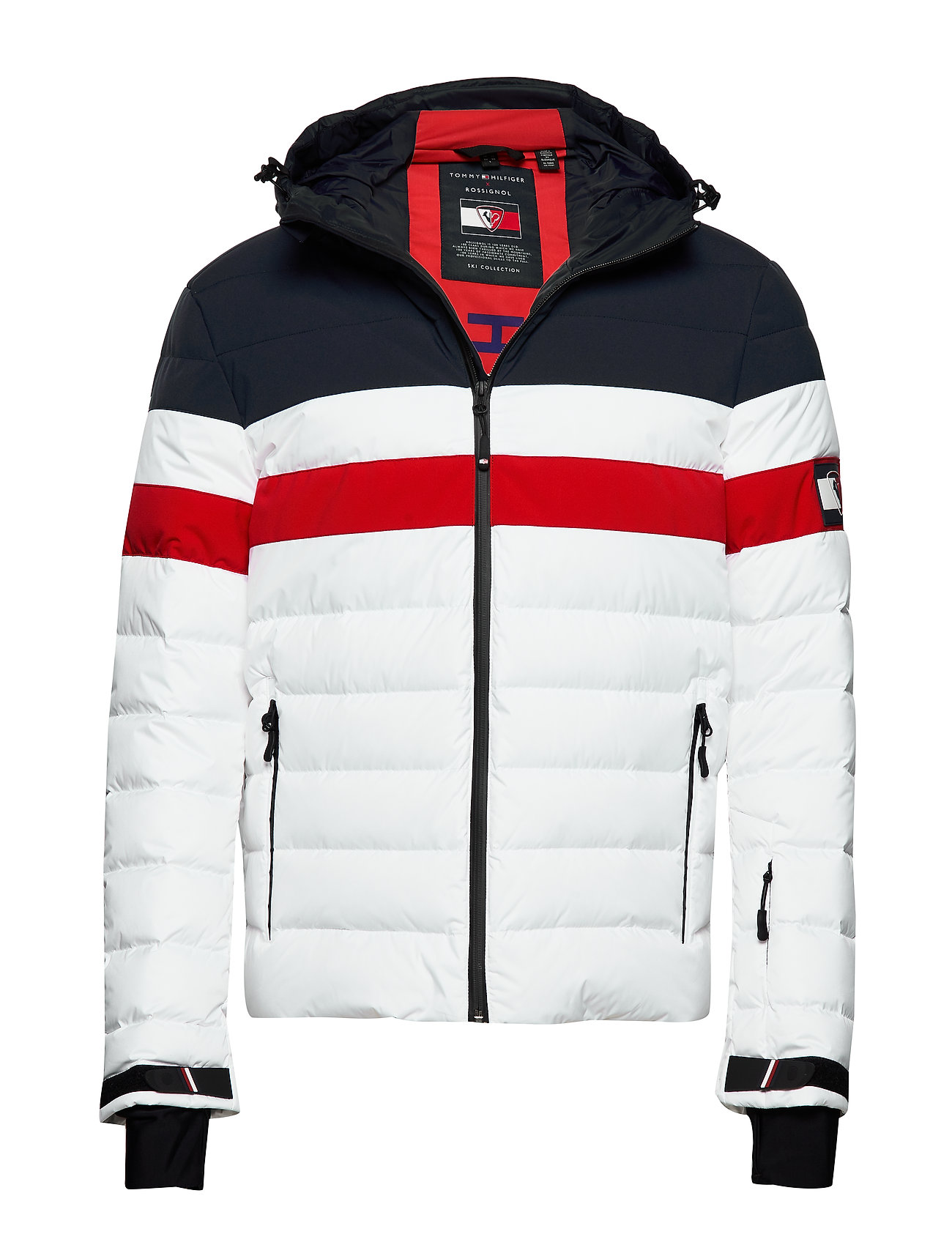 Tommy Hilfiger THXR CLRBLOCK QUILTED DOWN JKT - BRIGHT WHITE