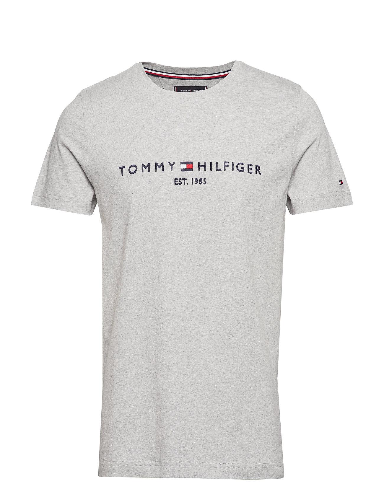 Tommy Hilfiger TOMMY LOGO TEE - CLOUD HTR