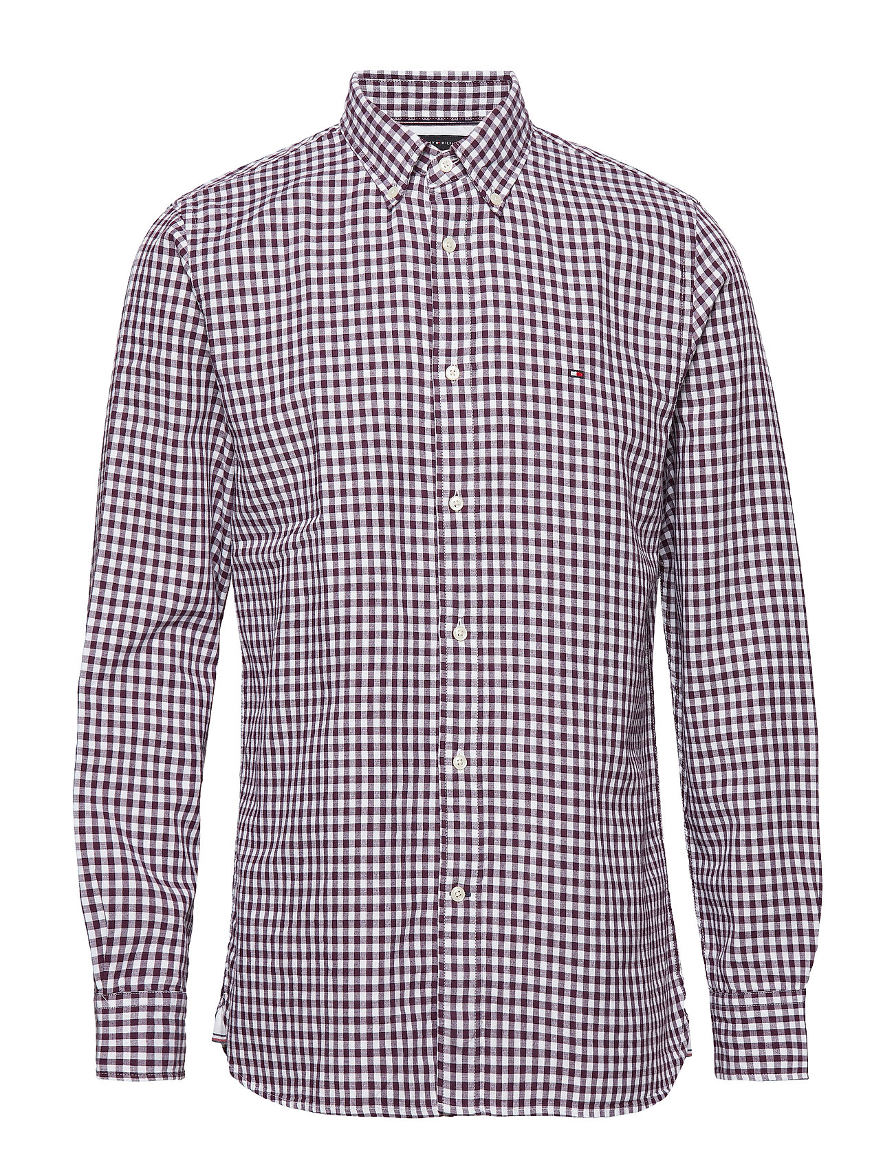 Tommy Hilfiger CLASSIC TEXTURED GINGHAM SHIRT - POTENT PURPLE / BRIGHT WHITE