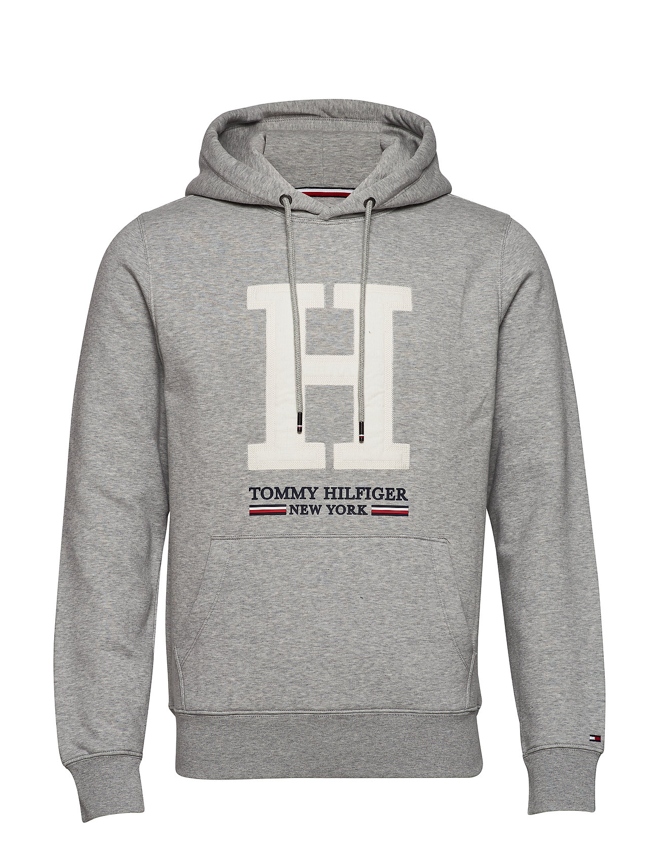Tommy Hilfiger APPLIQUE ARTWORK HOODY - CLOUD HEATHER