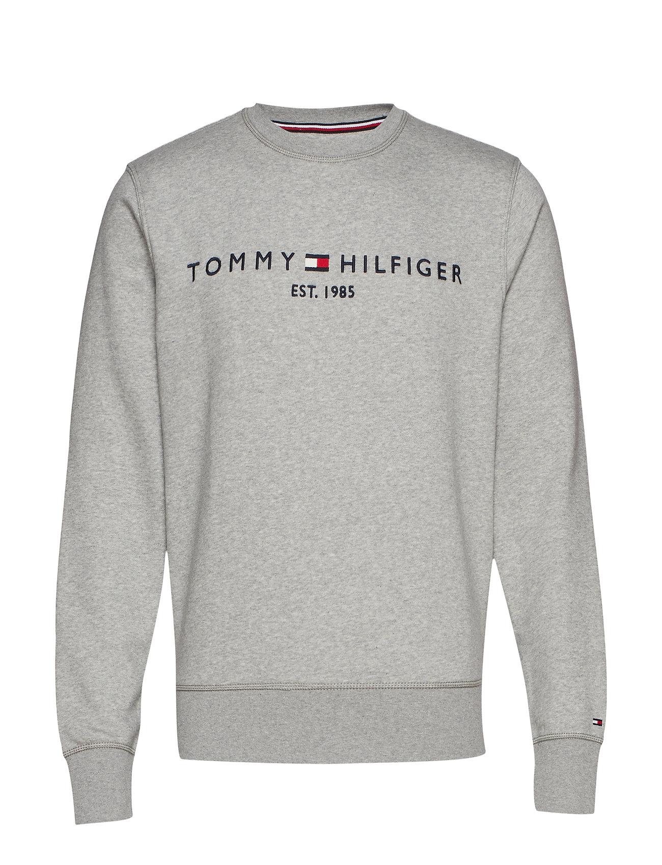 Tommy Hilfiger TOMMY LOGO SWEATSHIRT - CLOUD HEATHER
