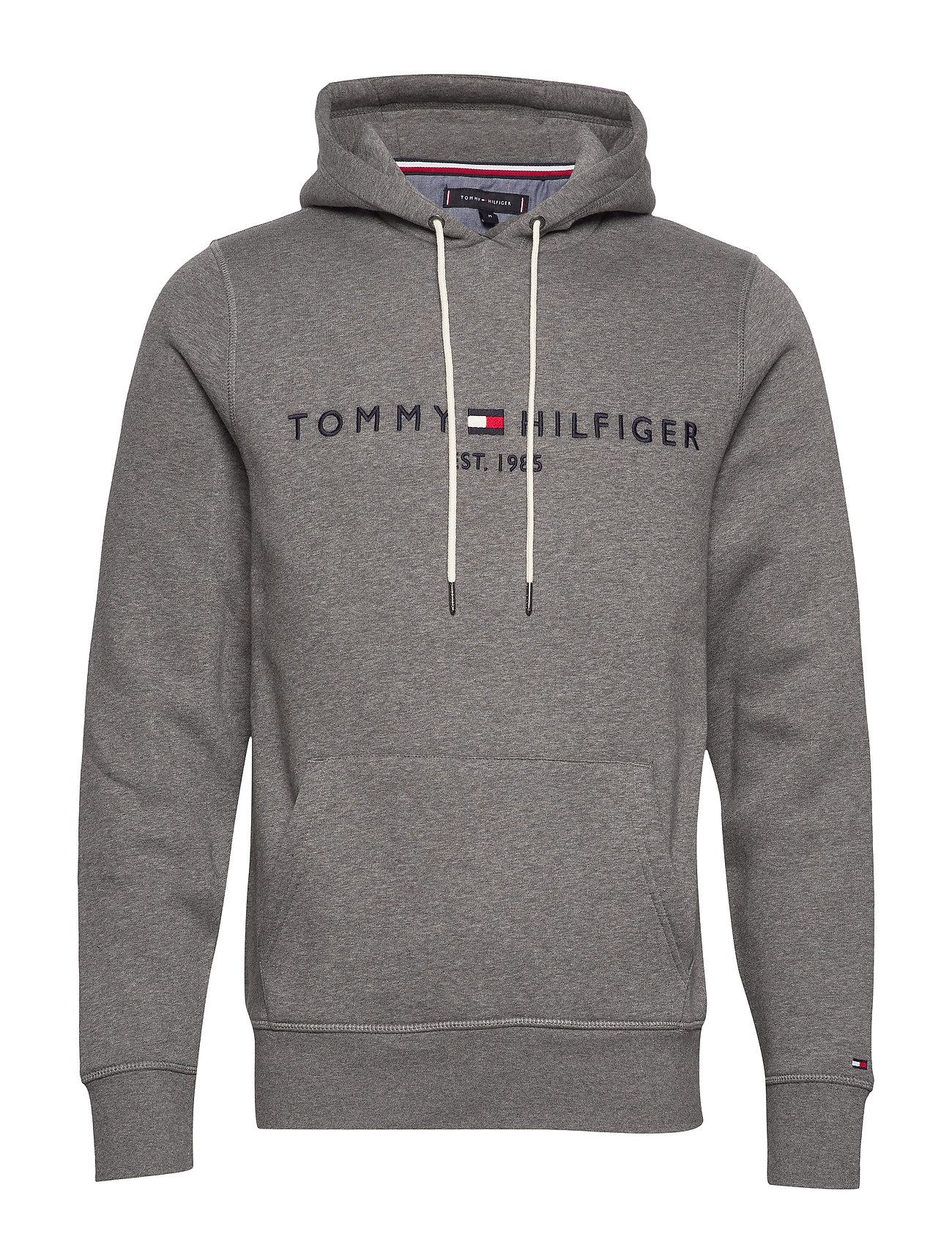 Tommy Hilfiger TOMMY LOGO HOODY - SILVER FOG HEATHER