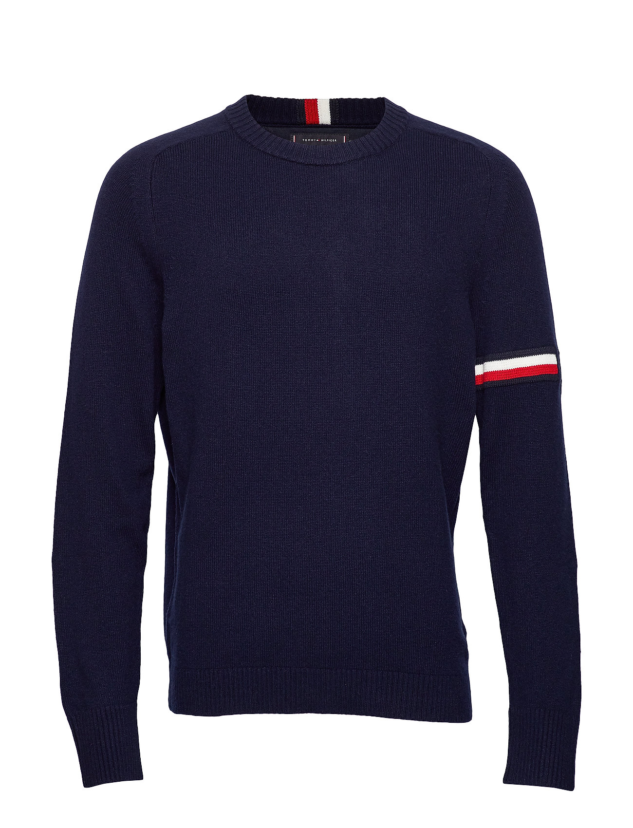 Tommy Hilfiger TH MONOGRAM BRANDED SWEATER - SKY CAPTAIN