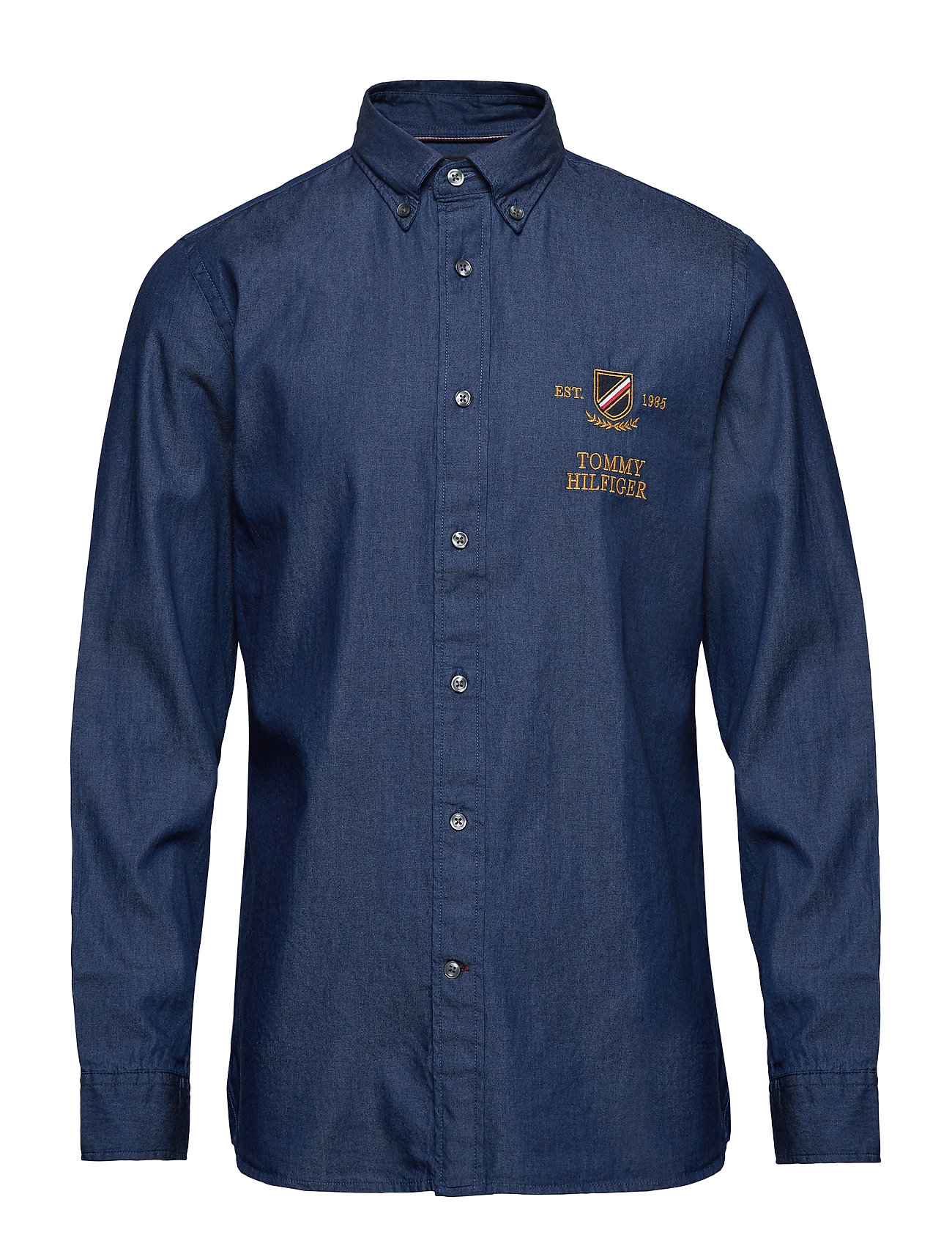 Tommy Hilfiger DENIM EMBROIDERY SHIRT - DARK DENIM