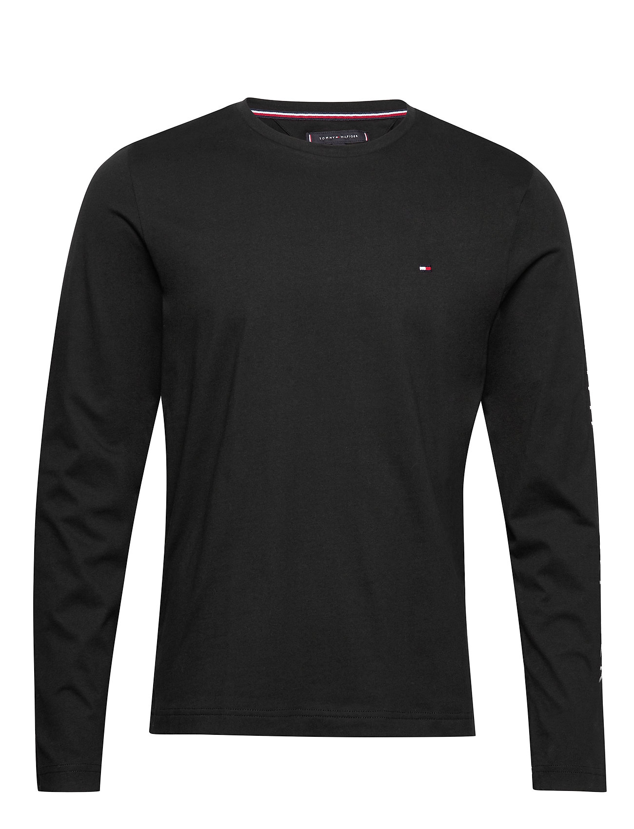 Tommy Hilfiger TOMMY LOGO LONG SLEEVE TEE - BLACK