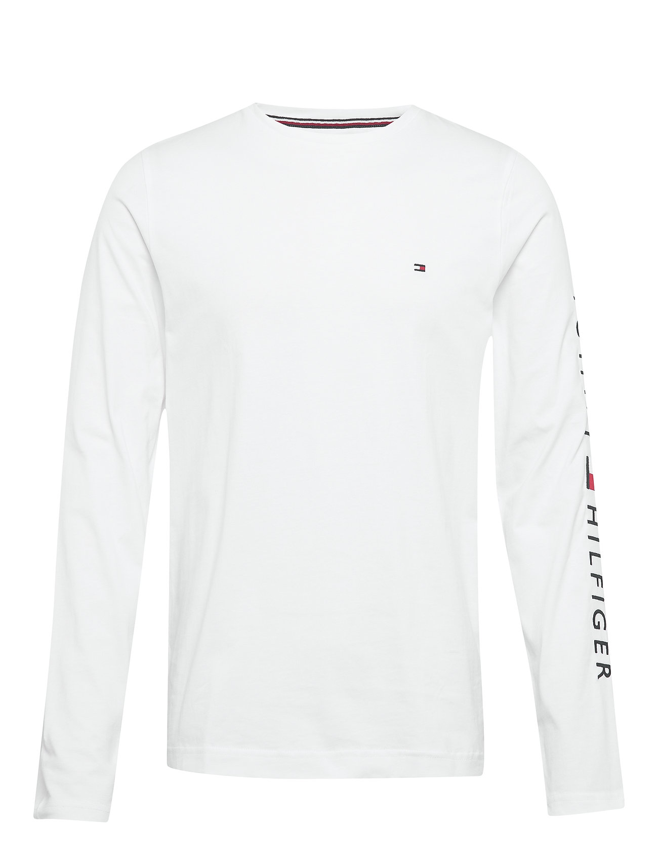 Tommy Hilfiger TOMMY LOGO LONG SLEEVE TEE - WHITE
