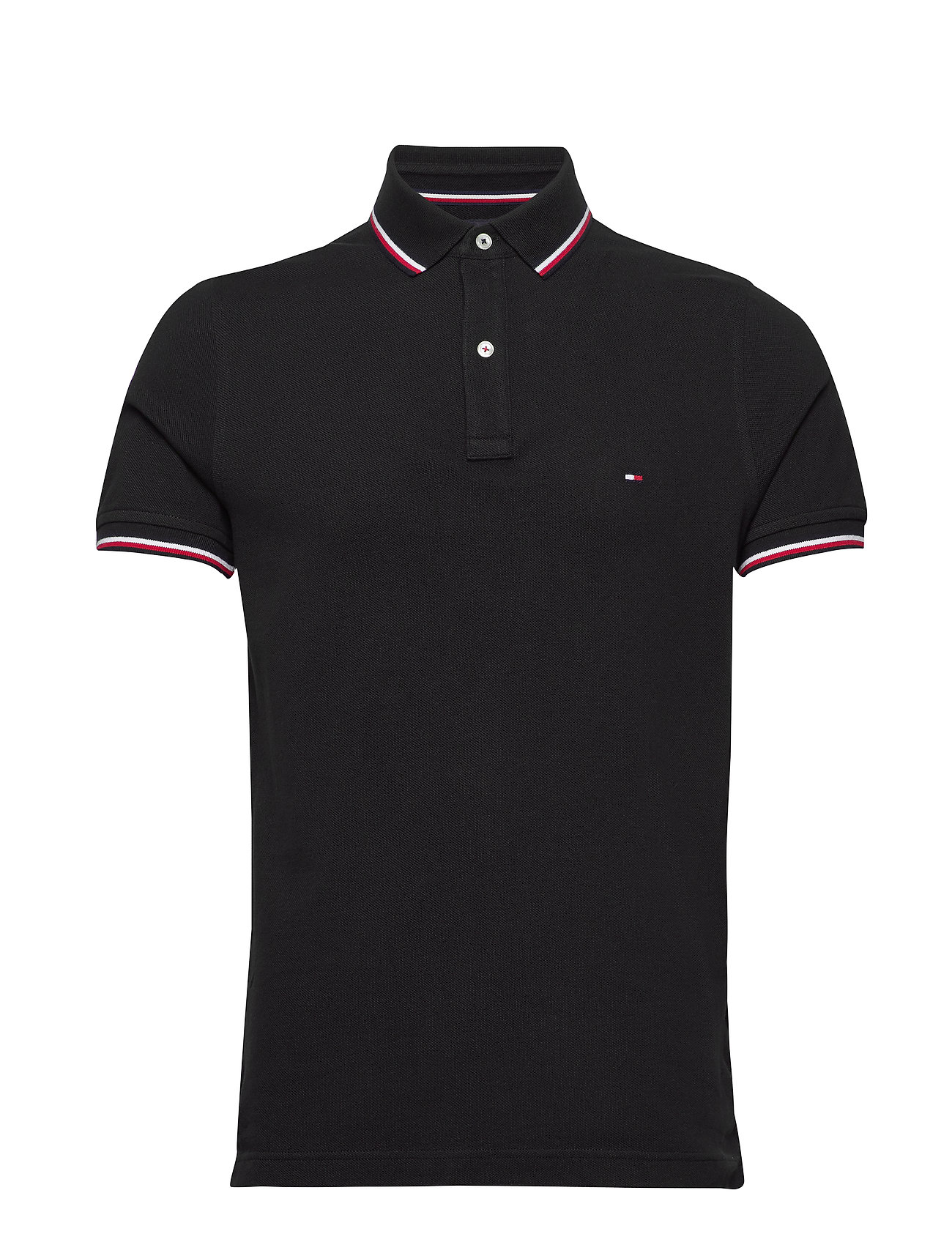 Tommy Hilfiger - CORE TOMMY TIPPED SLIM POLO - poloshirts - black - 0
