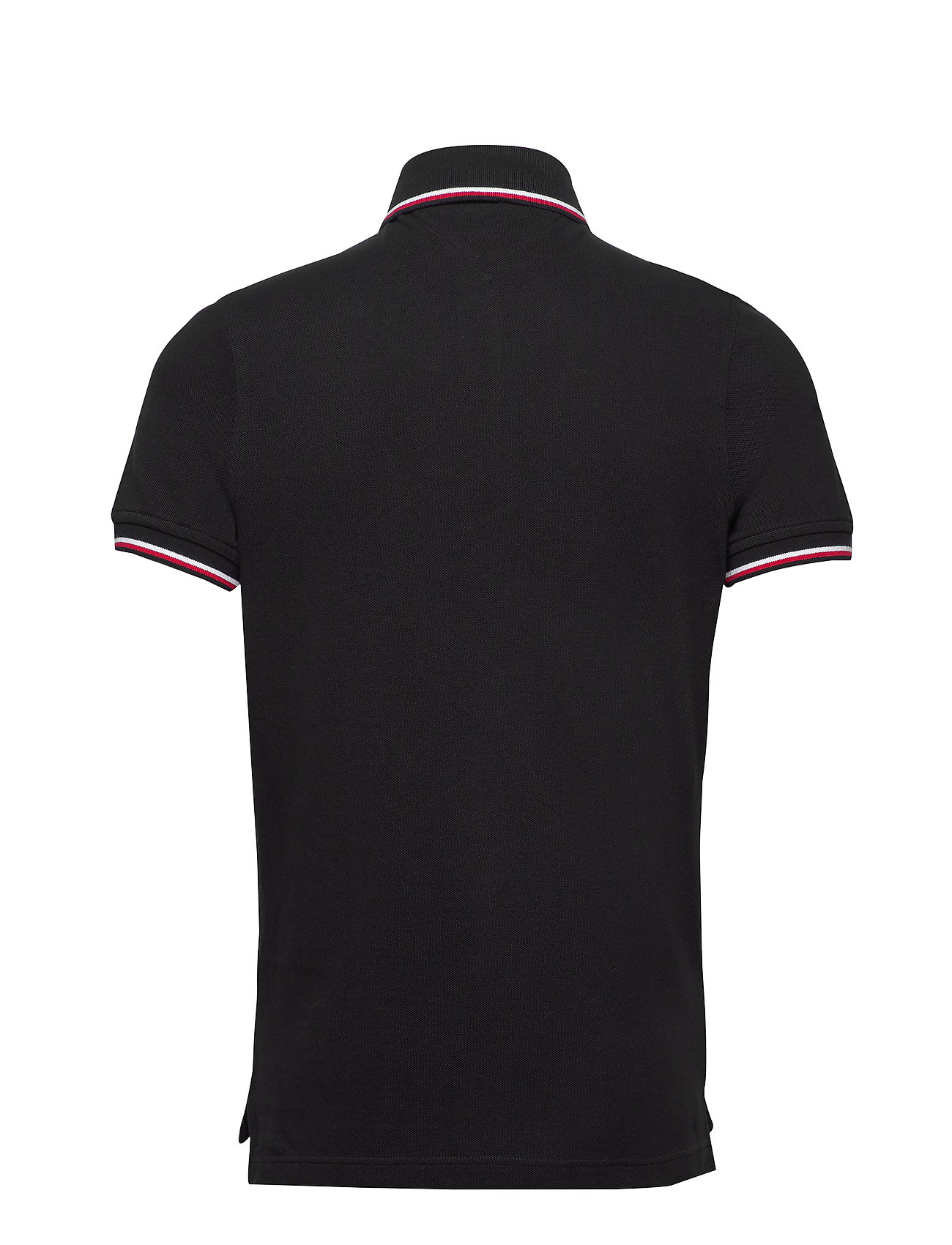 Tommy Hilfiger - CORE TOMMY TIPPED SLIM POLO - poloshirts - black - 1