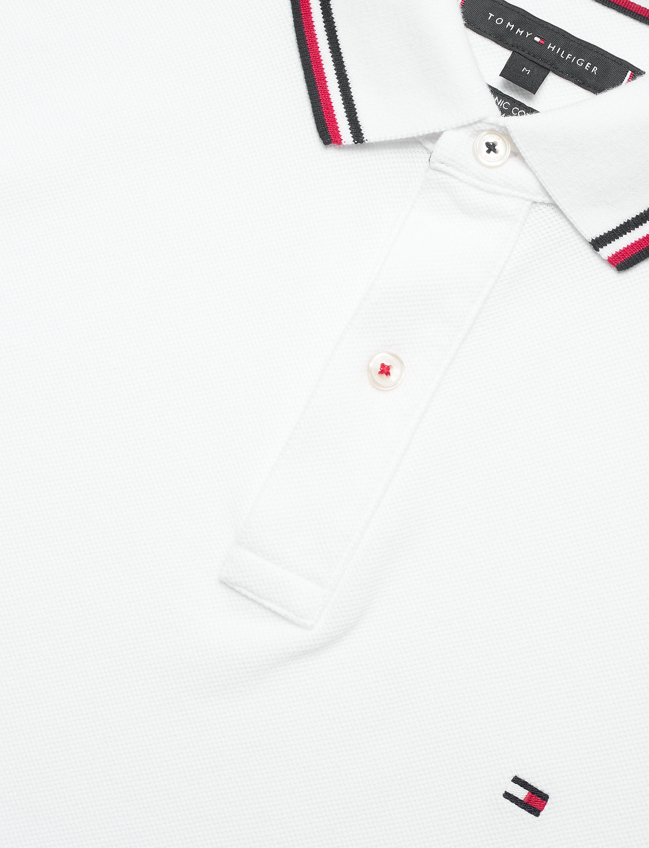 Tommy Hilfiger - CORE TOMMY TIPPED SLIM POLO - poloshirts - white - 2