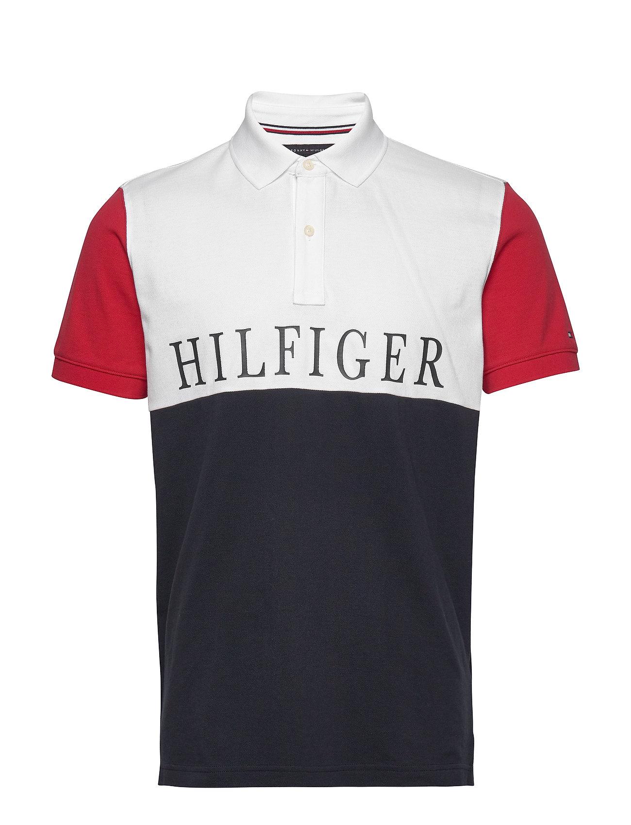 Image of Hilfiger Colorblock Polos Short-sleeved Creme Tommy Hilfiger (3362440185)