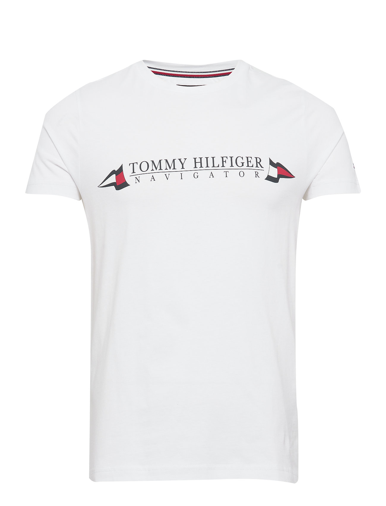Tommy Hilfiger SAILING FLAGS TEE - WHITE
