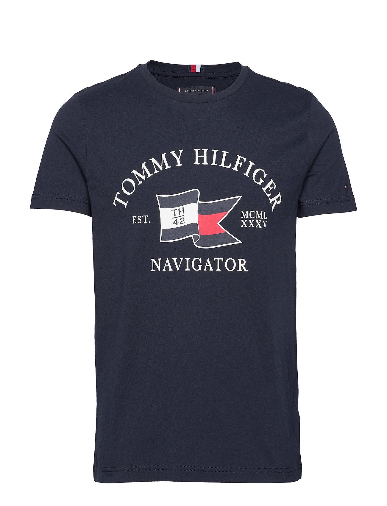 Tommy Hilfiger FOLDED FLAG TEE - DESERT SKY