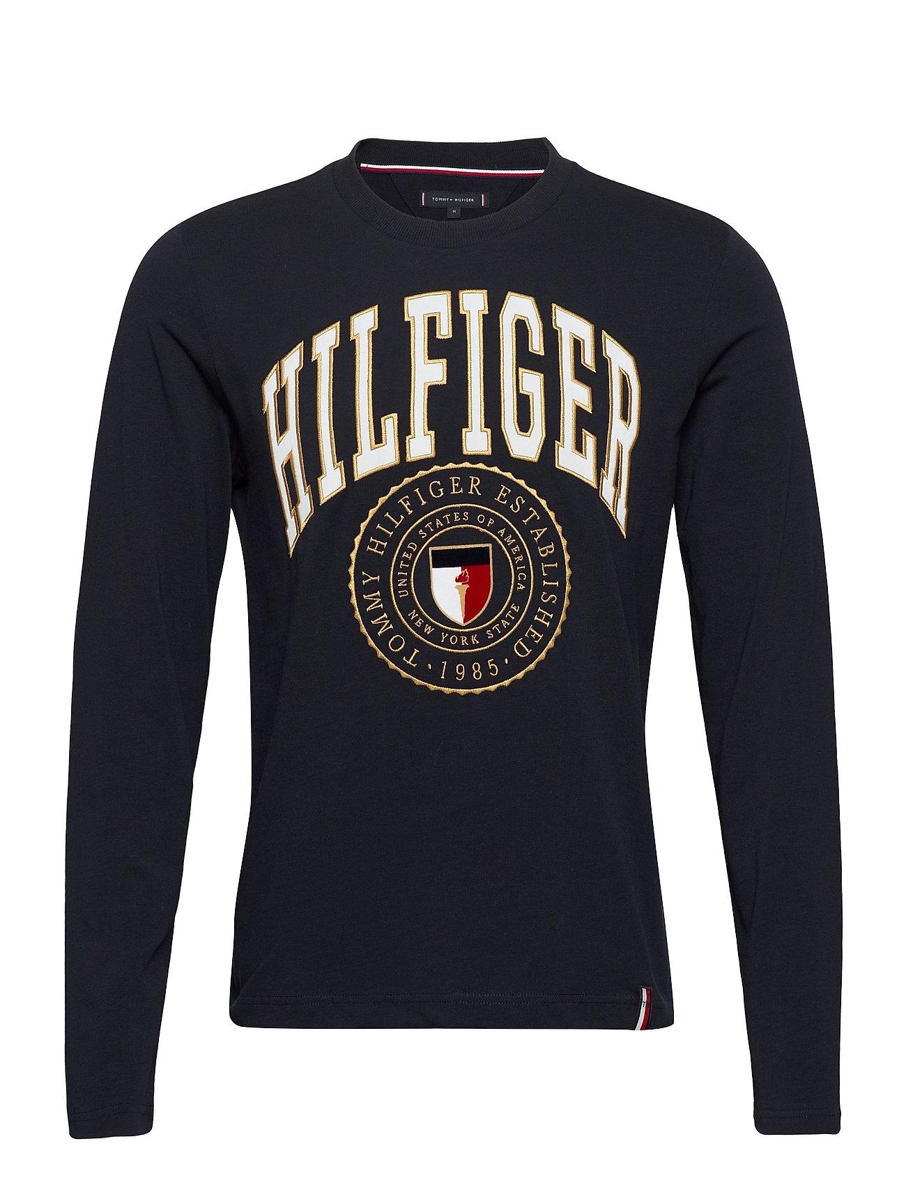 Image of Hilfiger Varisty Long Sleeve Tee T-Langærmet Skjorte Blå Tommy Hilfiger (3448363167)