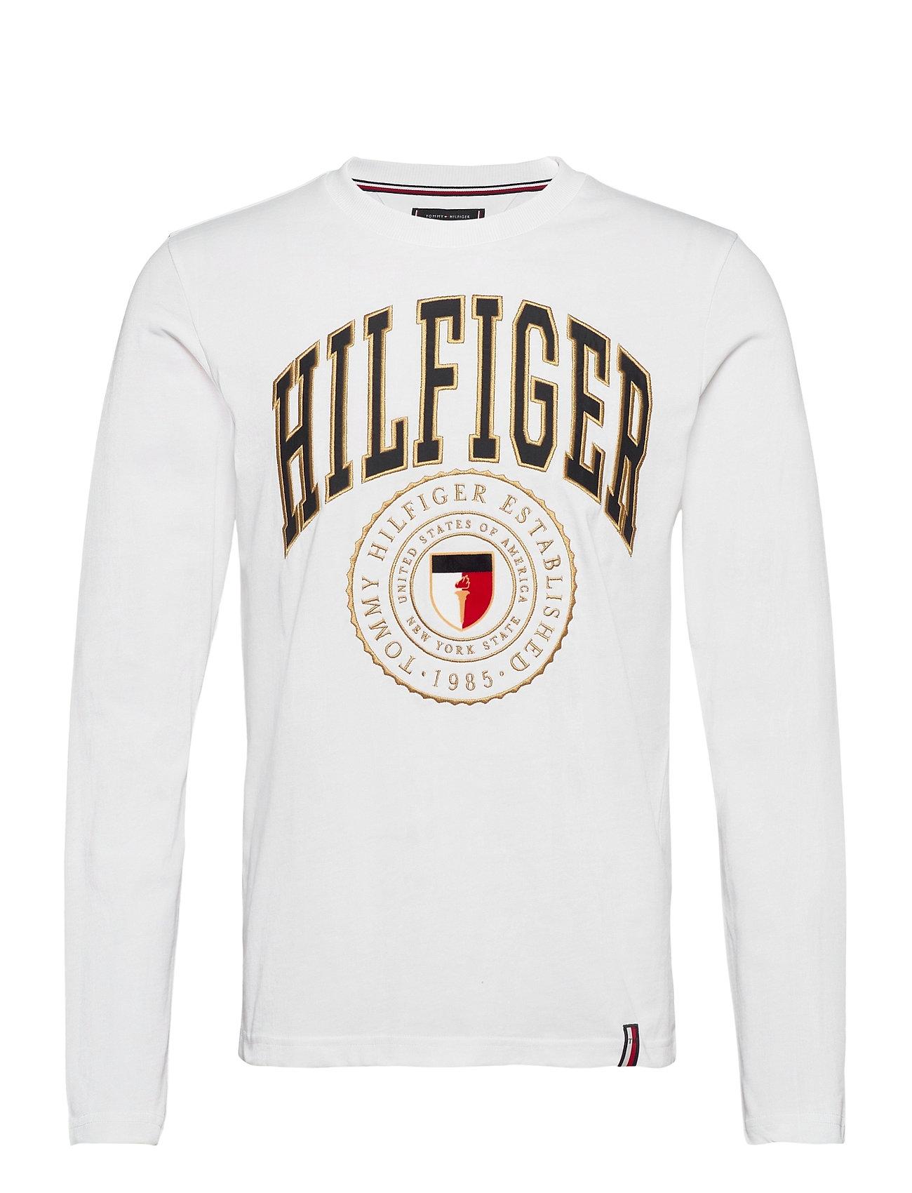 Image of Hilfiger Varisty Long Sleeve Tee T-Langærmet Skjorte Hvid Tommy Hilfiger (3448363171)