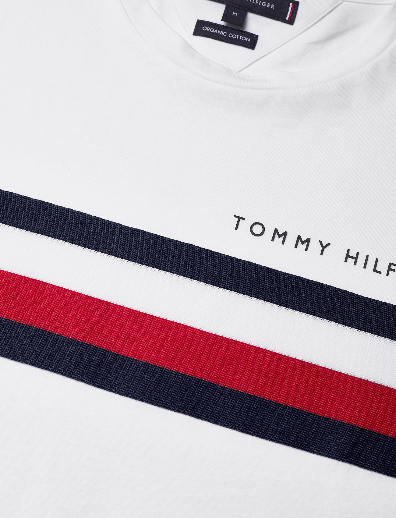 Tommy Hilfiger Global Stripe Tee - T-shirts White