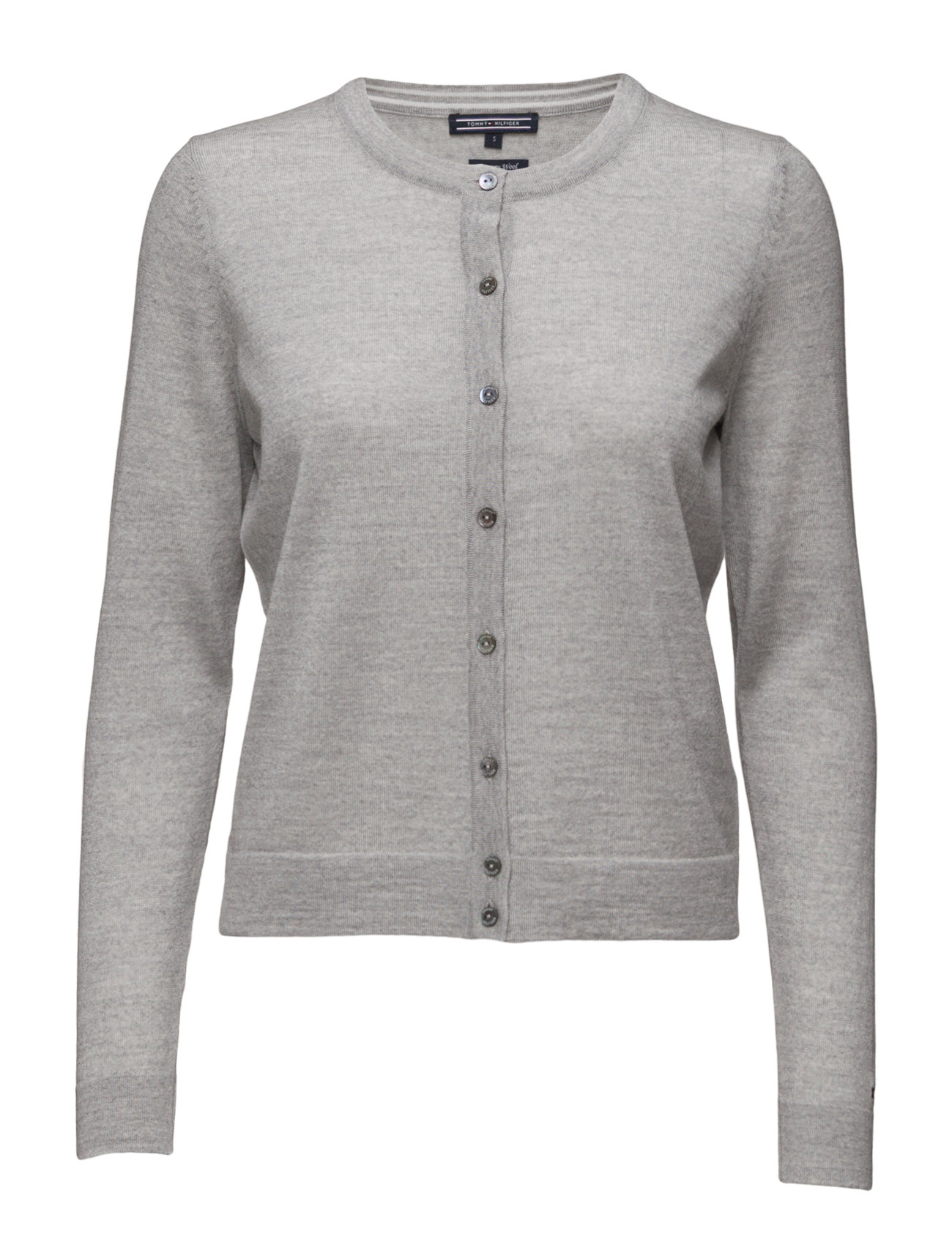 Tommy Hilfiger GUVERA C-NK CARDI - LIGHT GREY HTR