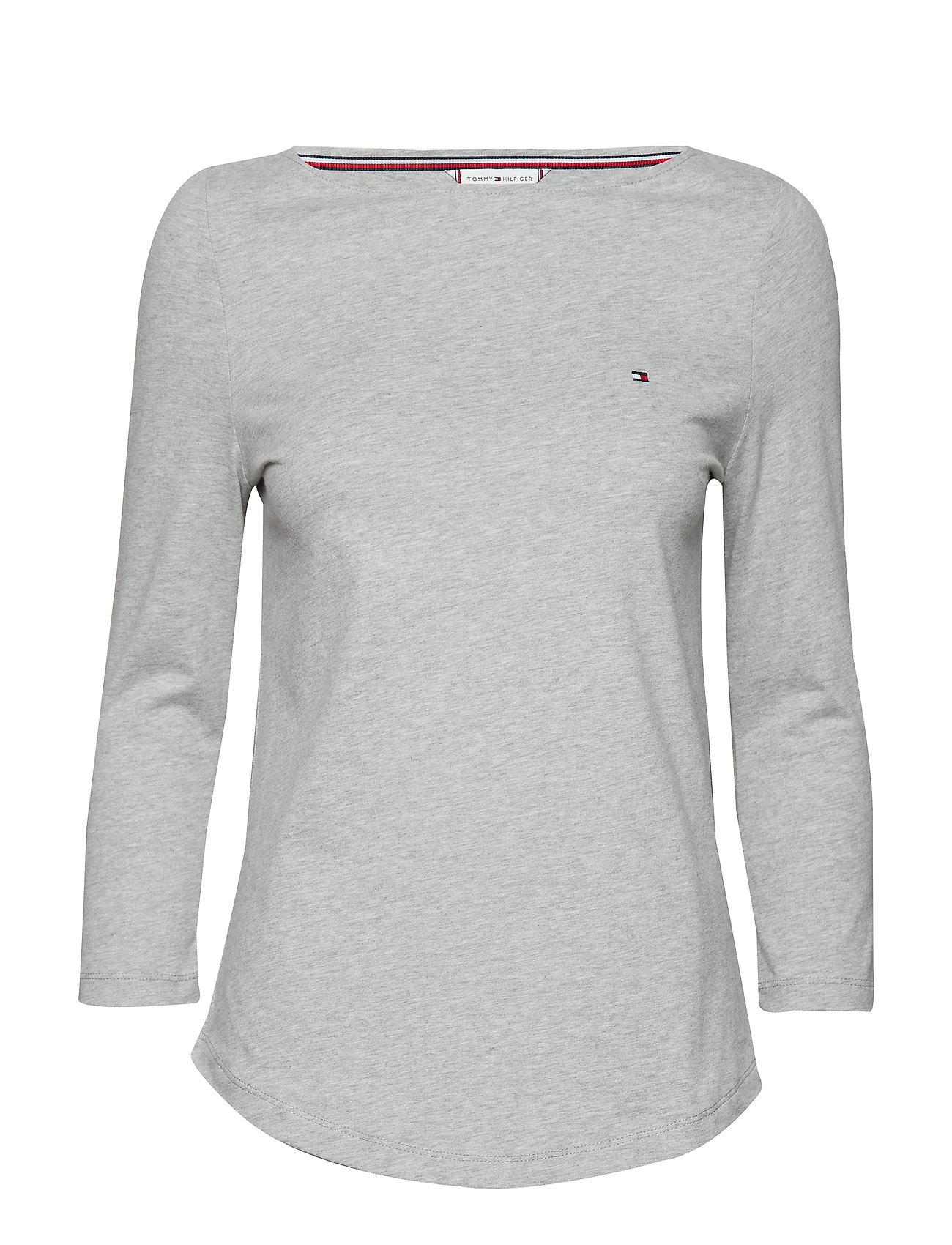 Tommy Hilfiger LUCY BOAT-NK TOP 3/4 - LIGHT GREY HTR