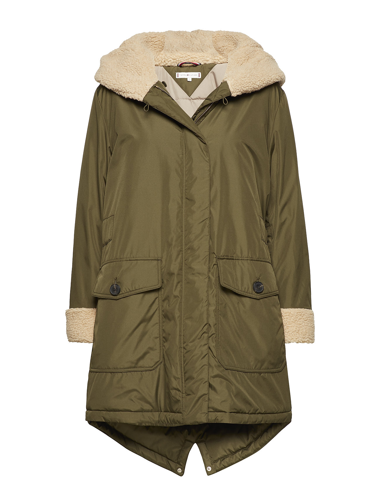 grandioso Plano inferencia  Tommy Hilfiger Alana Teddy Long Parka (Olive Night), (244.30 €) | Large  selection of outlet-styles | Booztlet.com