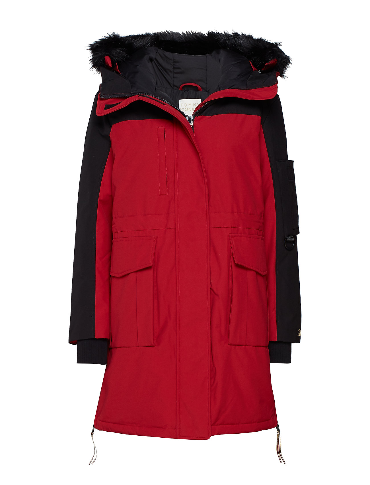 Tommy Icons Colorblock Parka (Black Beauty   Red) (174.50 €) - Tommy ... 3b85cc964378