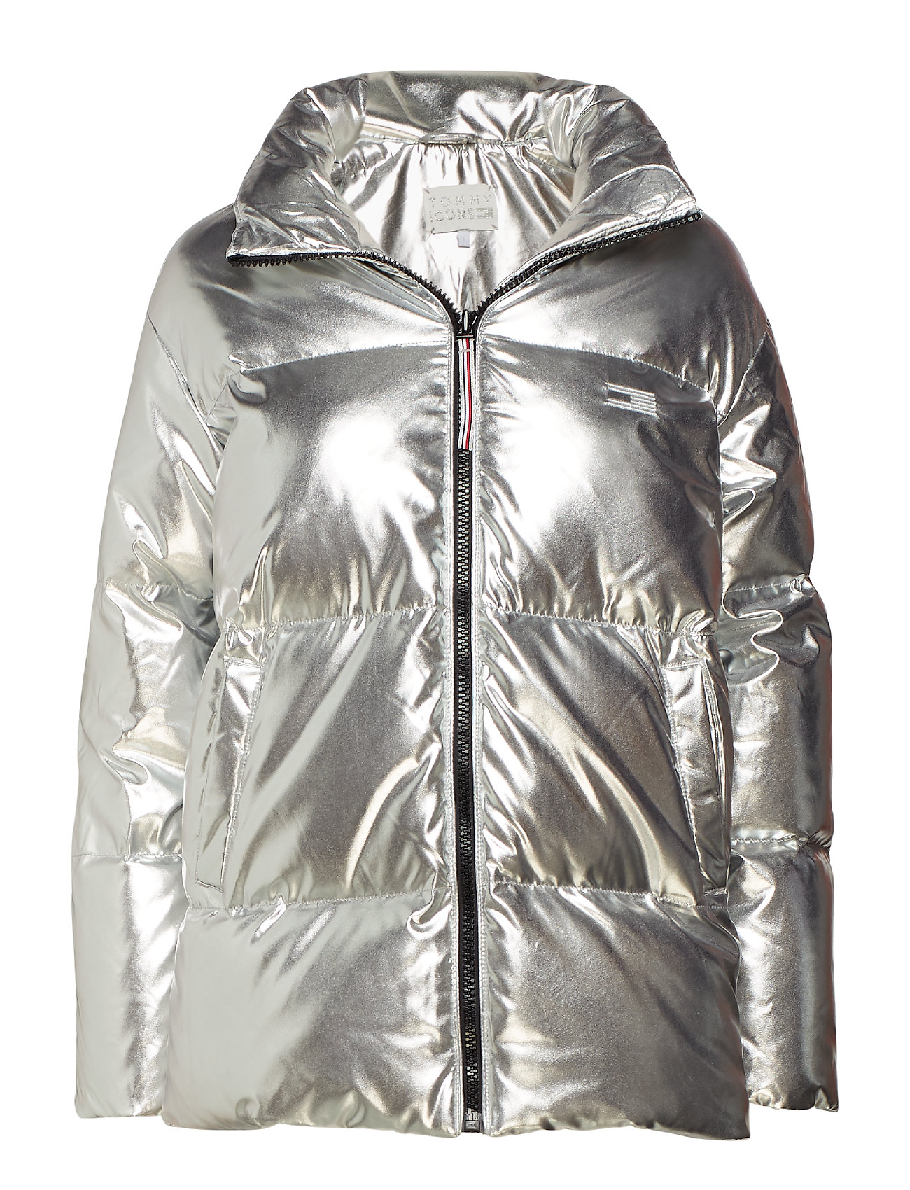 Tommy Hilfiger TOMMY ICONS HIGH GLOSS PUFFER - SILVER