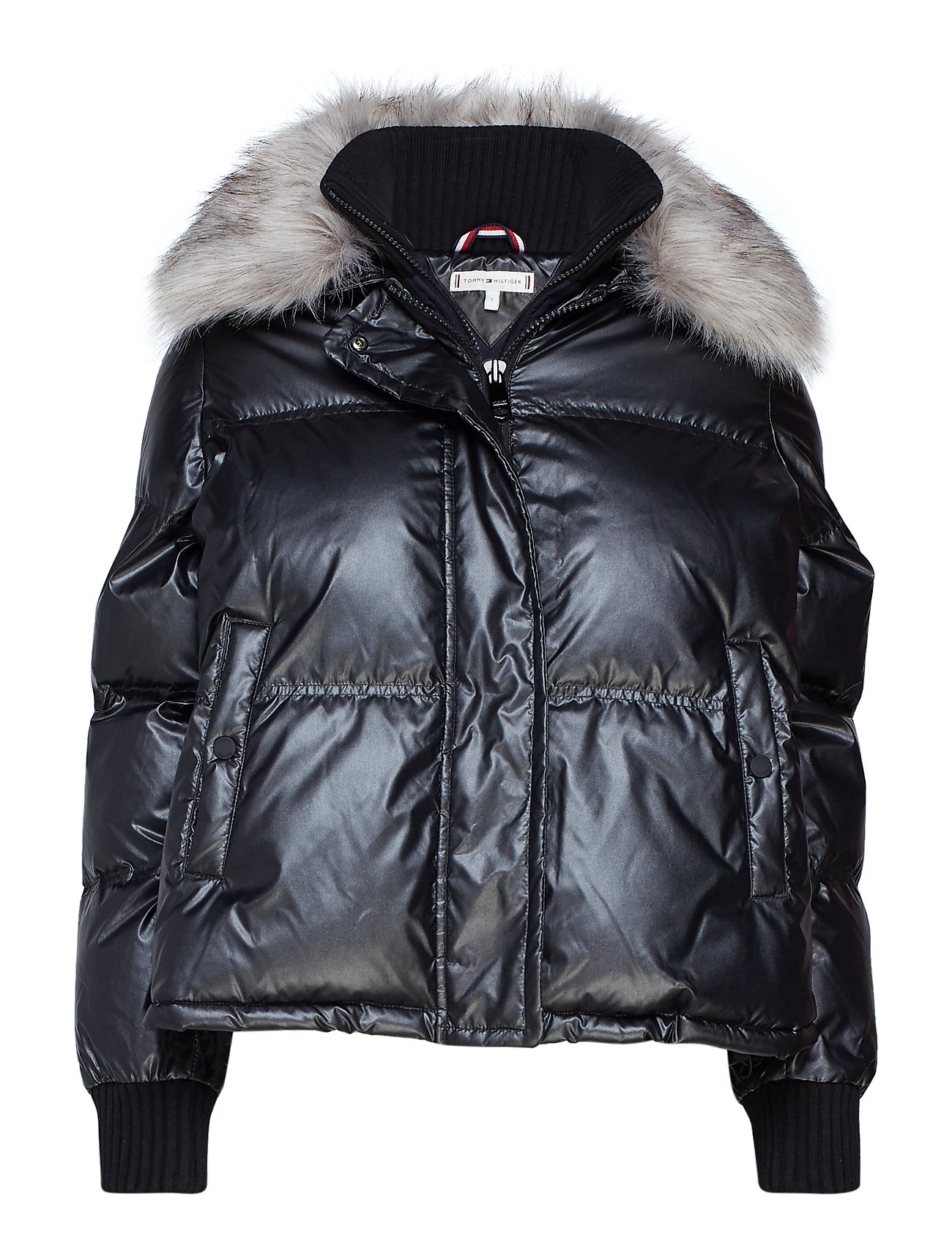 Tommy Hilfiger FRAN PUFFER BOMBER, - BLACK BEAUTY