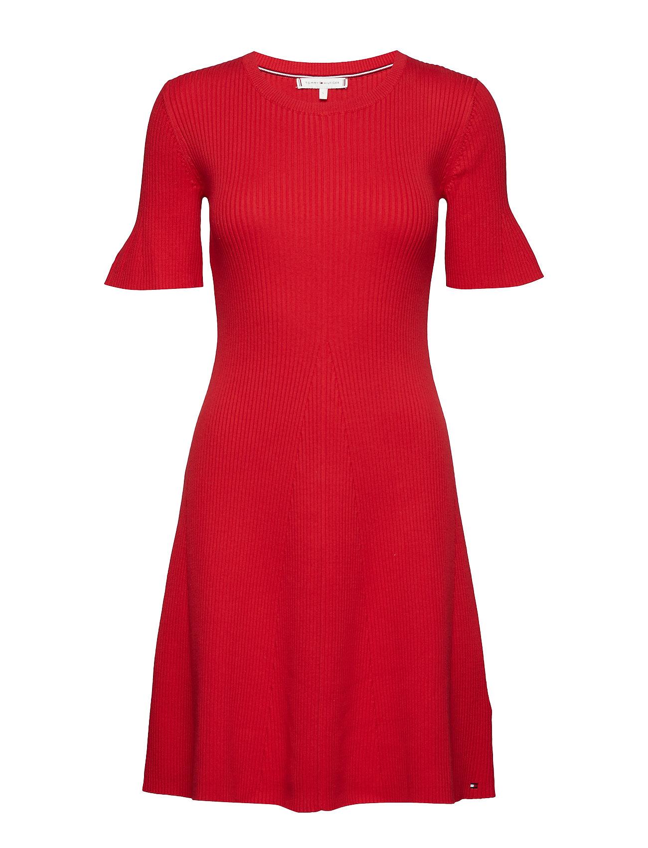 Tommy Hilfiger SANE DRESS - TRUE RED
