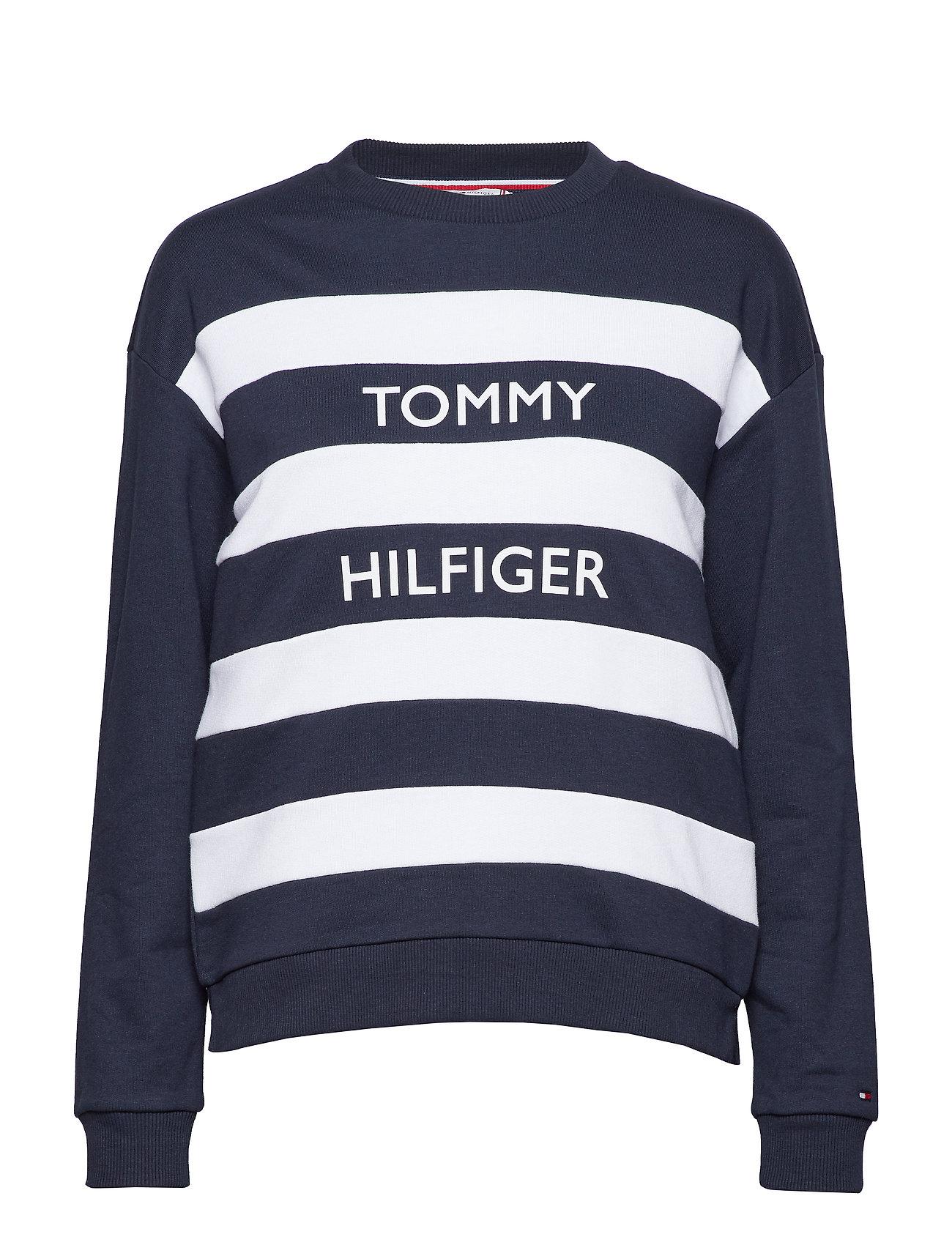 Tommy Hilfiger KENDRA C-NK SWEATSHI - MIDNIGHT / CL. WHITE