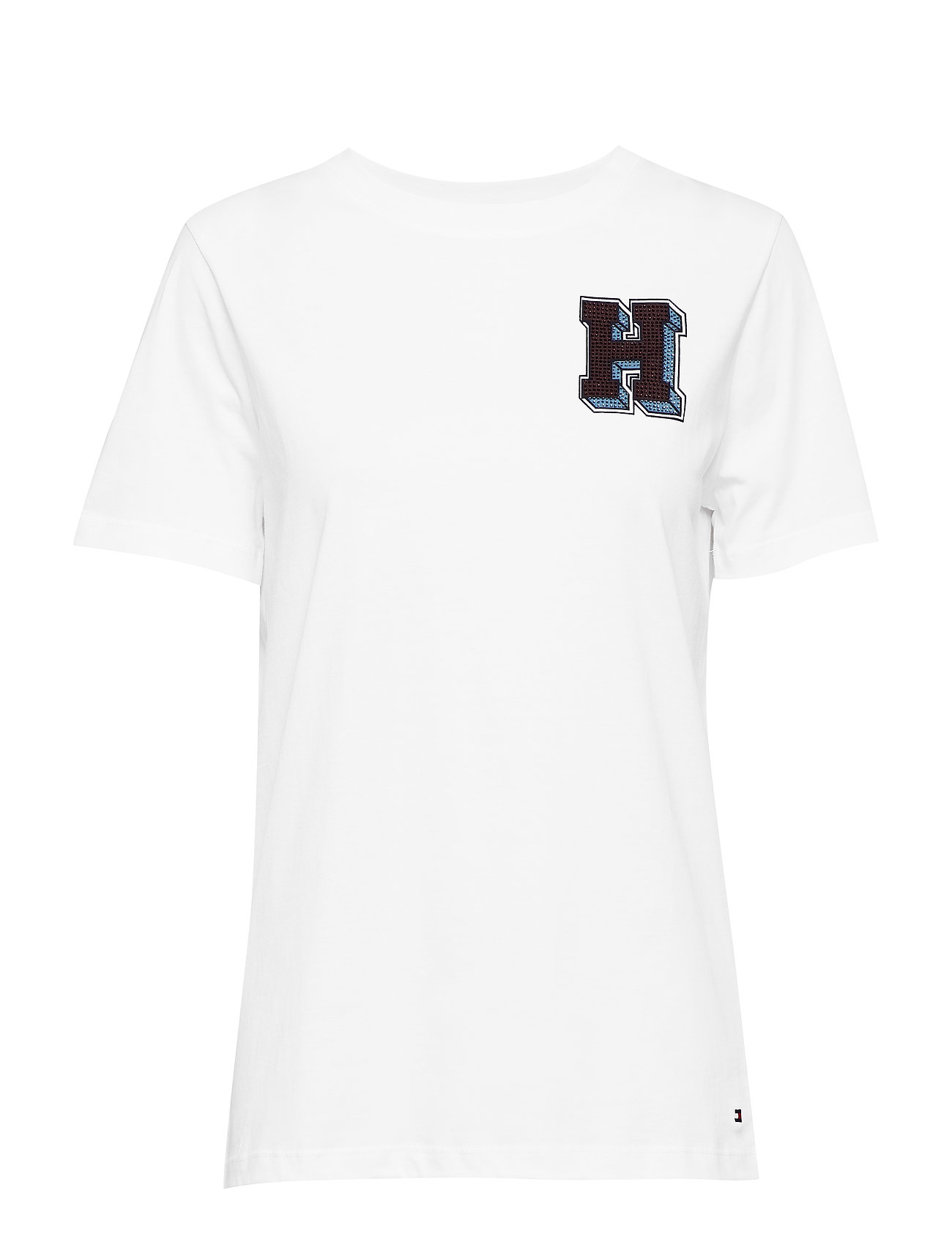 Tommy Hilfiger JESSICA C-NK H TEE S - CLASSIC WHITE
