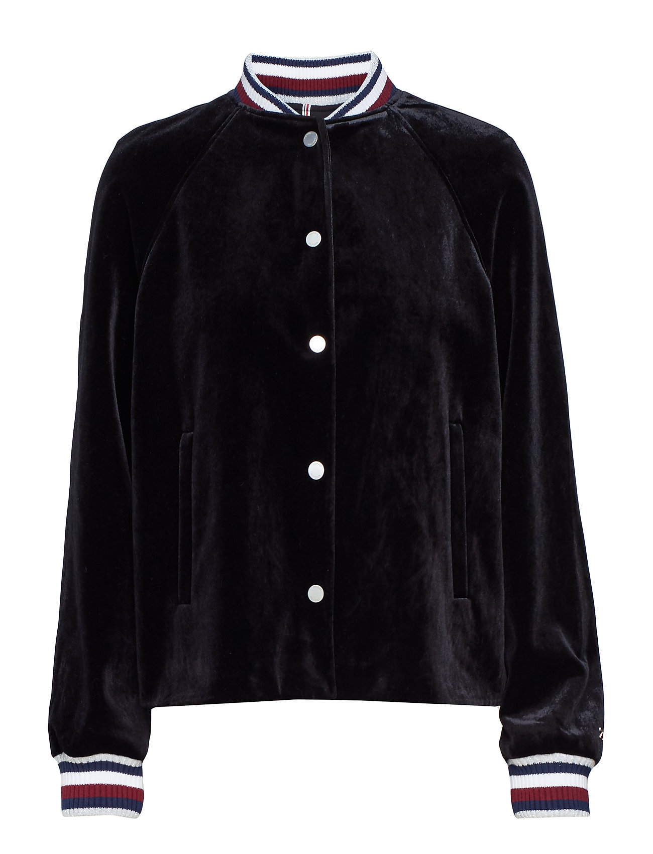 Tommy Hilfiger ICON VELVET BOMBER, - BLACK BEAUTY