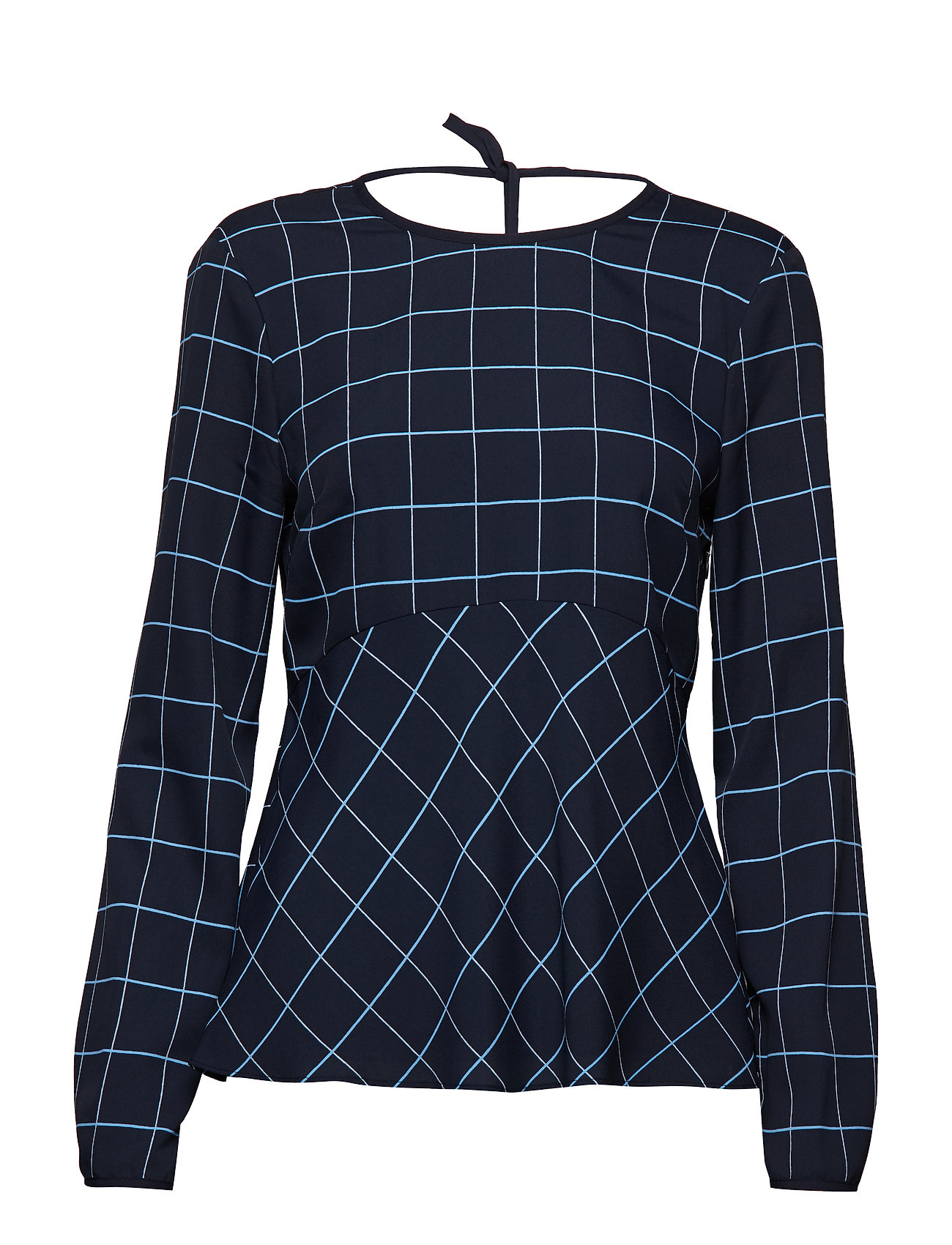 Tommy Hilfiger HARPER BLOUSE LS, 46 - WINDOWPANE / MIDNIGHT