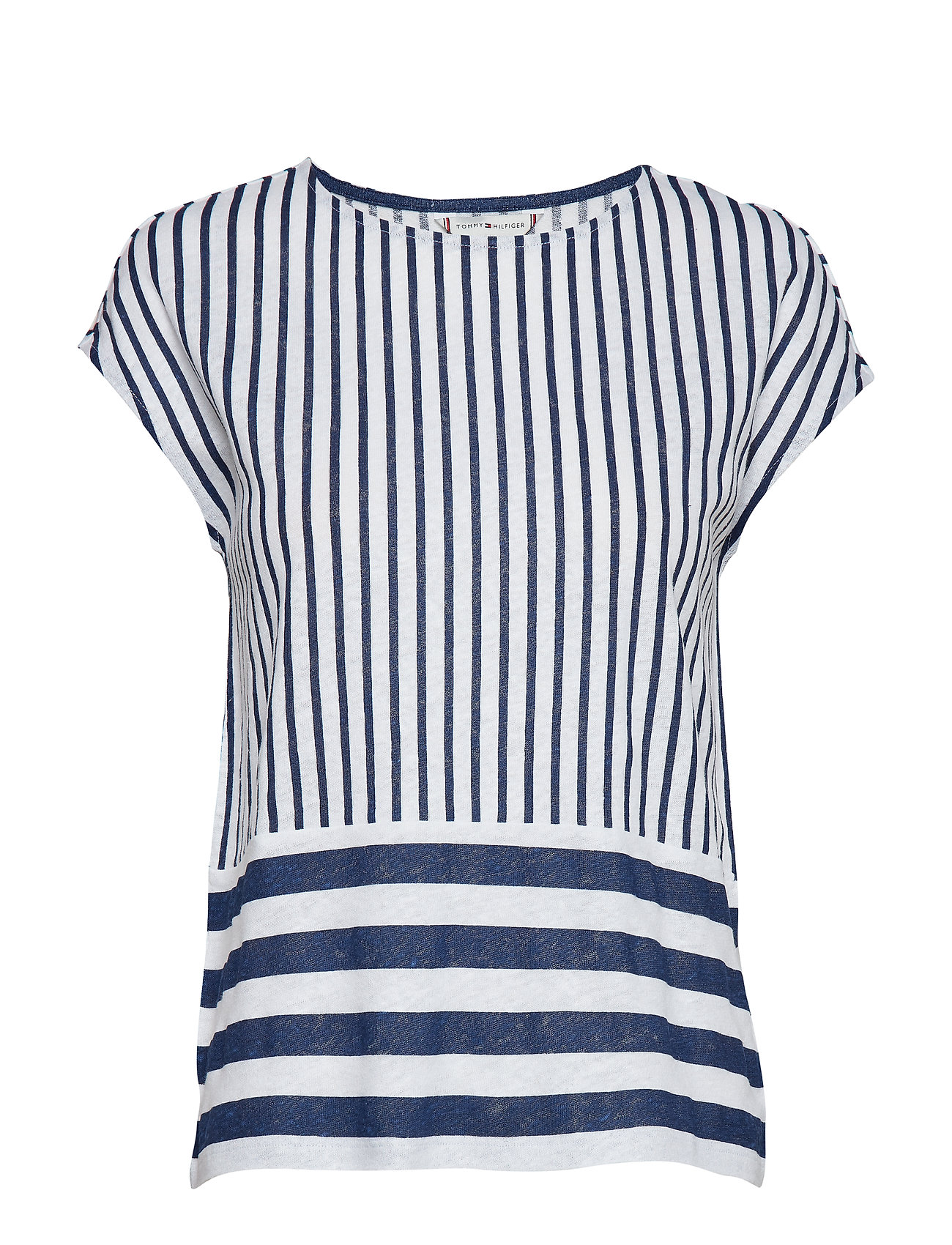 Tommy Hilfiger BABS OPEN-NK TOP CAP - DECK CHAIR STP YD / MEDIEVAL