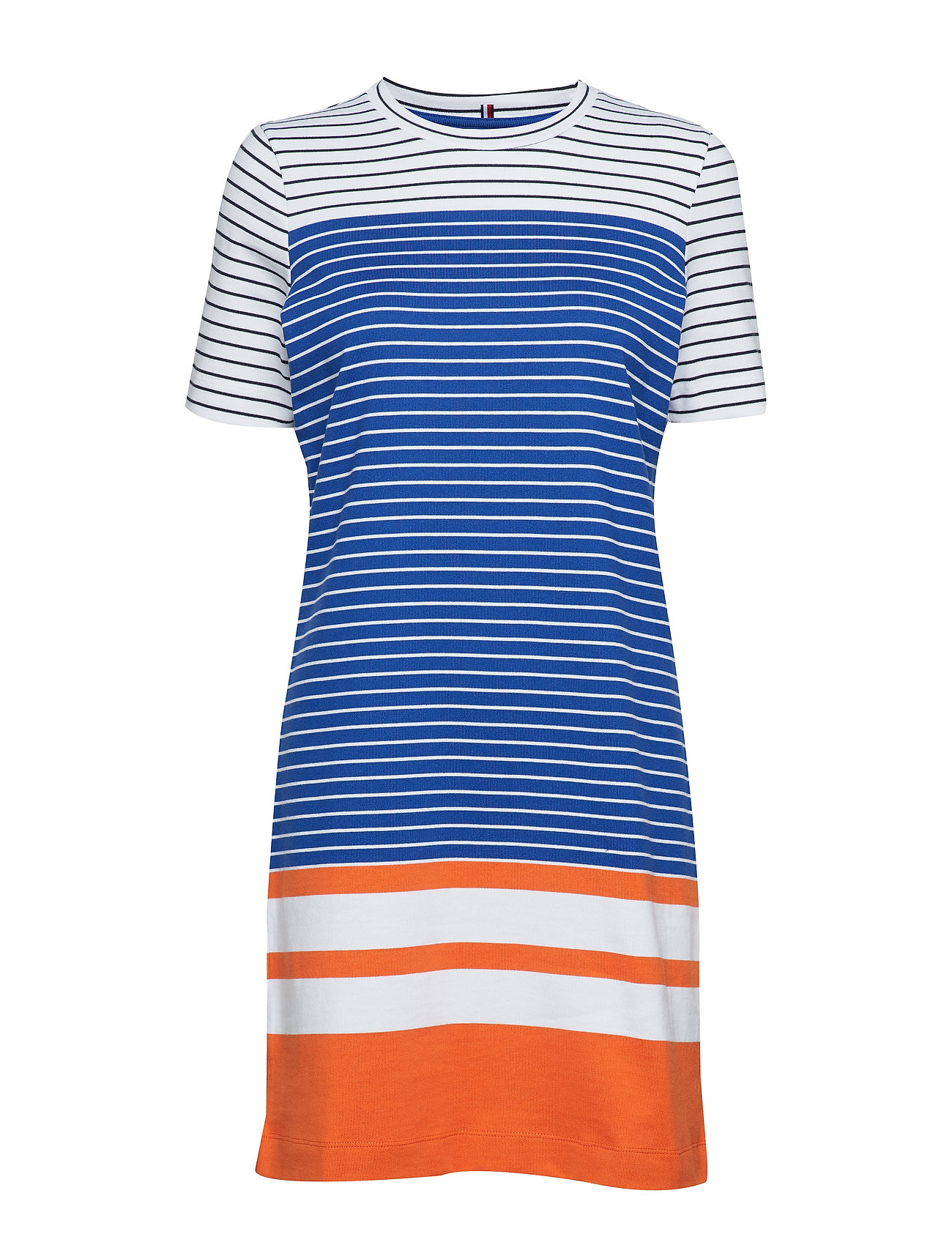 Tommy Hilfiger BETTIE C-NK DRESS SS - ENGINEERED STP / SURF THE WEB
