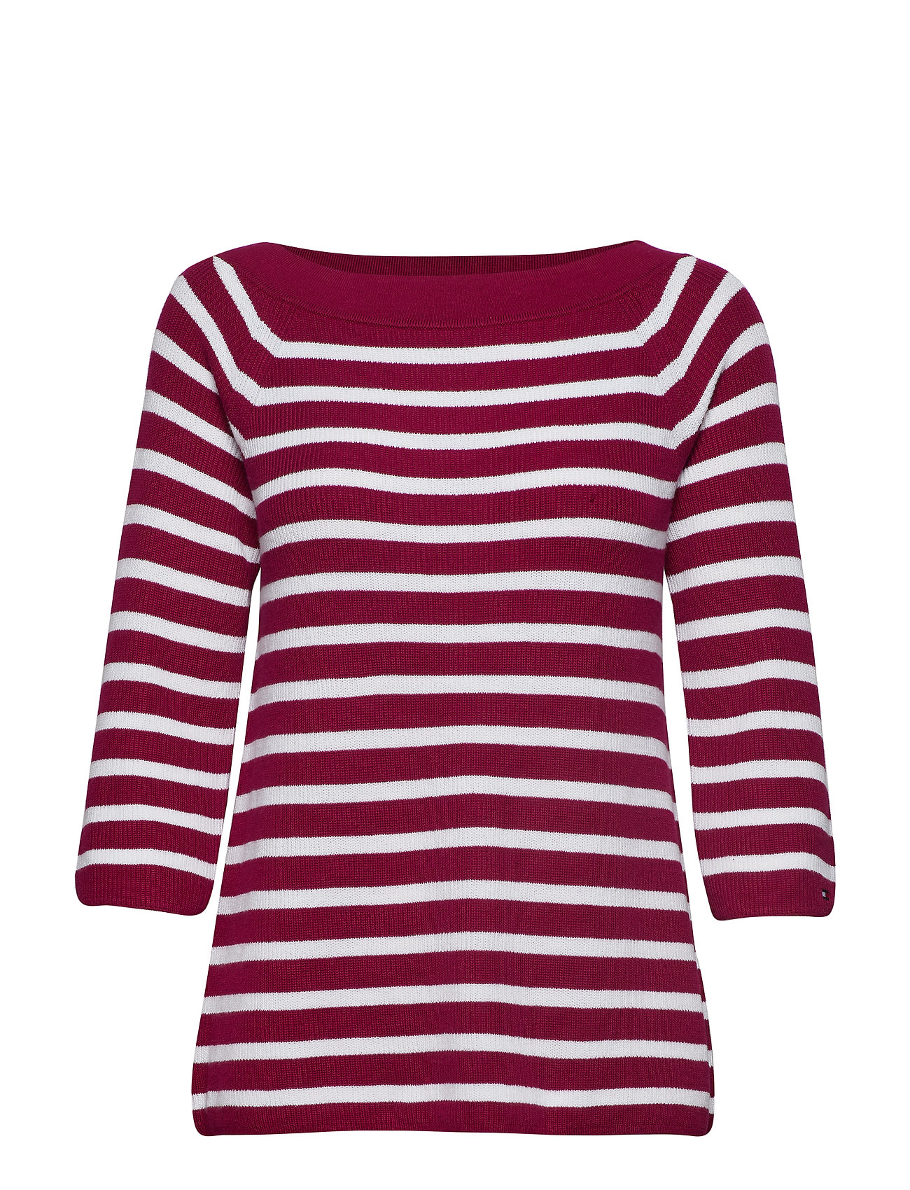 Tommy Hilfiger ABBIE OFF SHOULDER S - ABBIE STP / BEET RED