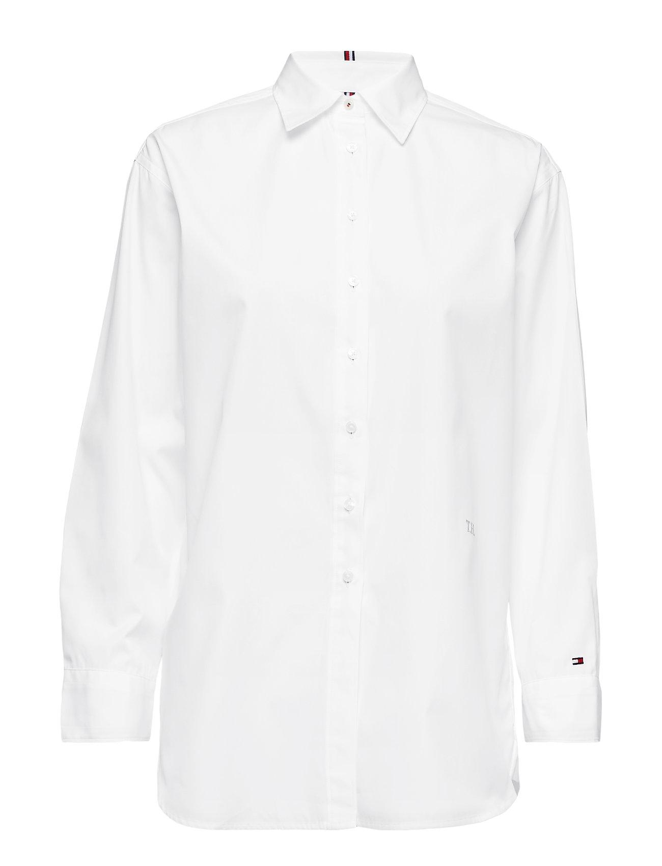 Tommy Hilfiger TH ESSENTIAL BOYFRIEND SHIRT - CLASSIC WHITE