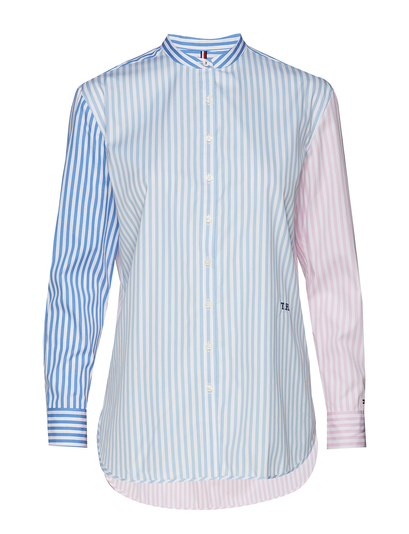 Tommy Hilfiger TH ESSENTIAL GIRLFRIEND SHIRT LS - BANKER STP /  MULTI