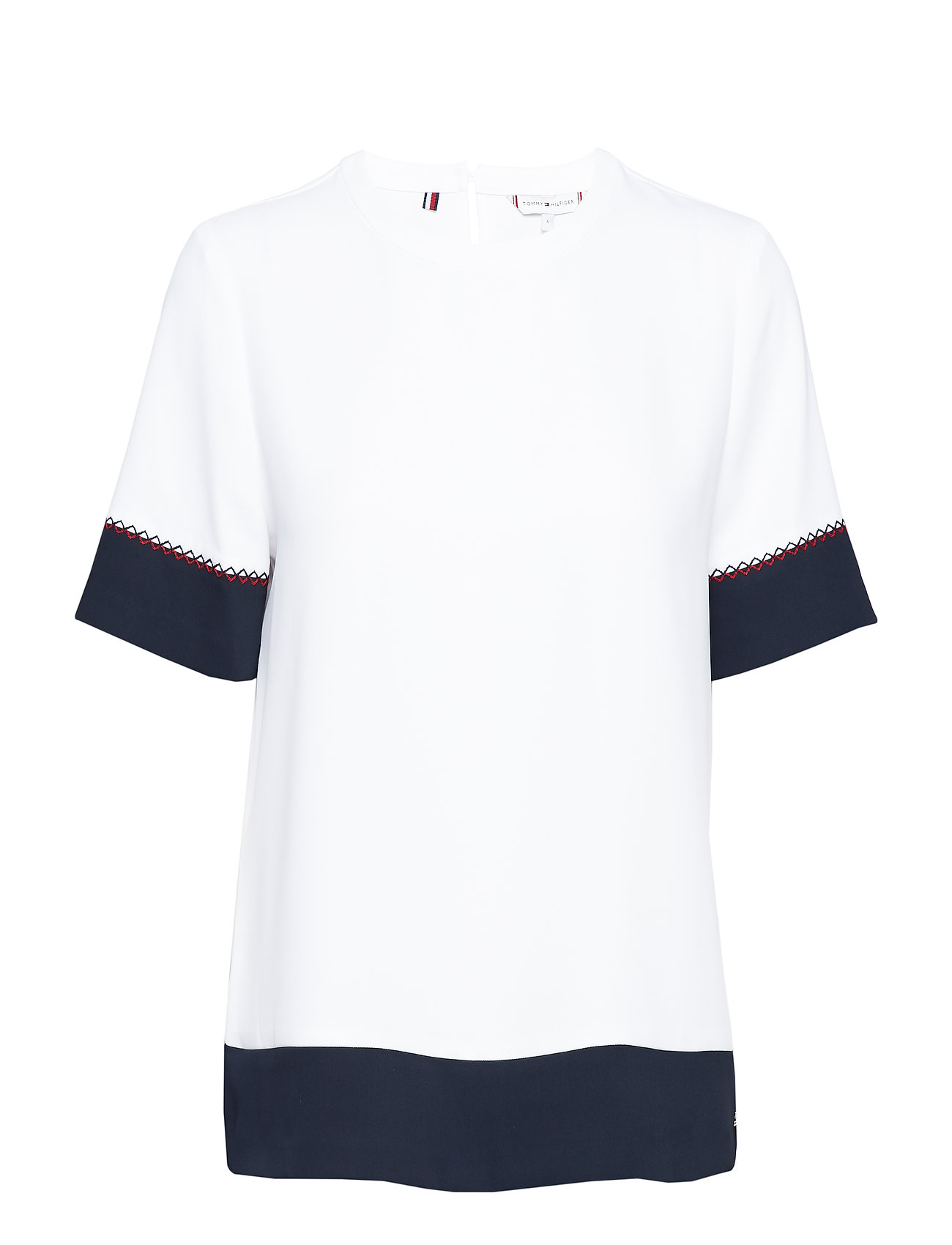 Tommy Hilfiger FLORENTINA TOP SS - CLASSIC WHITE